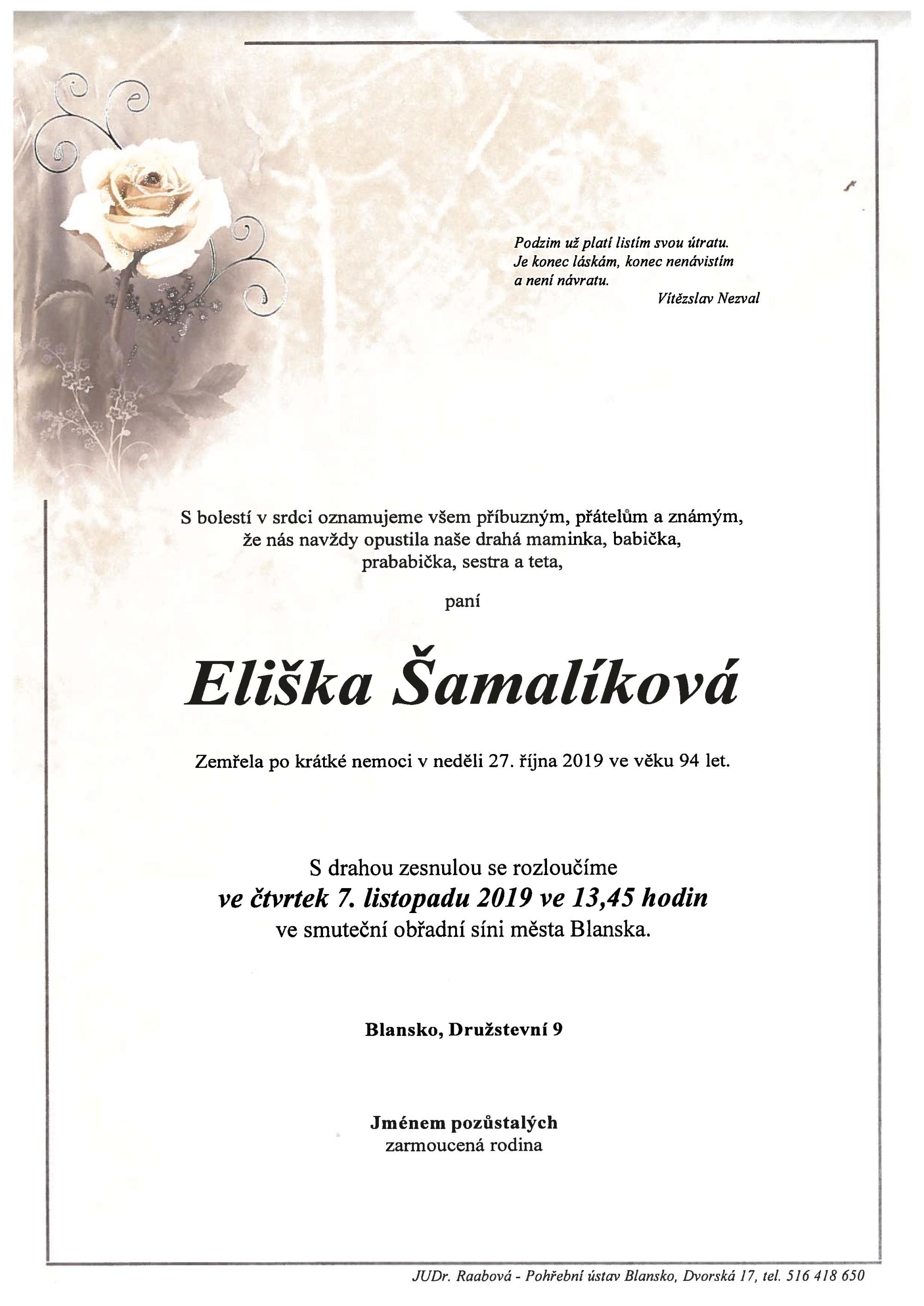 Eliška Šamalíková