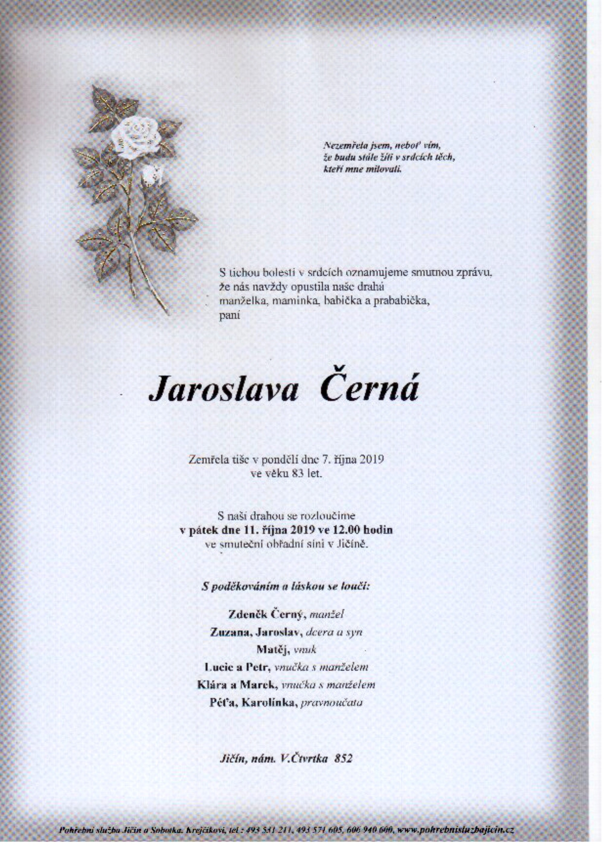 Jaroslava Černá