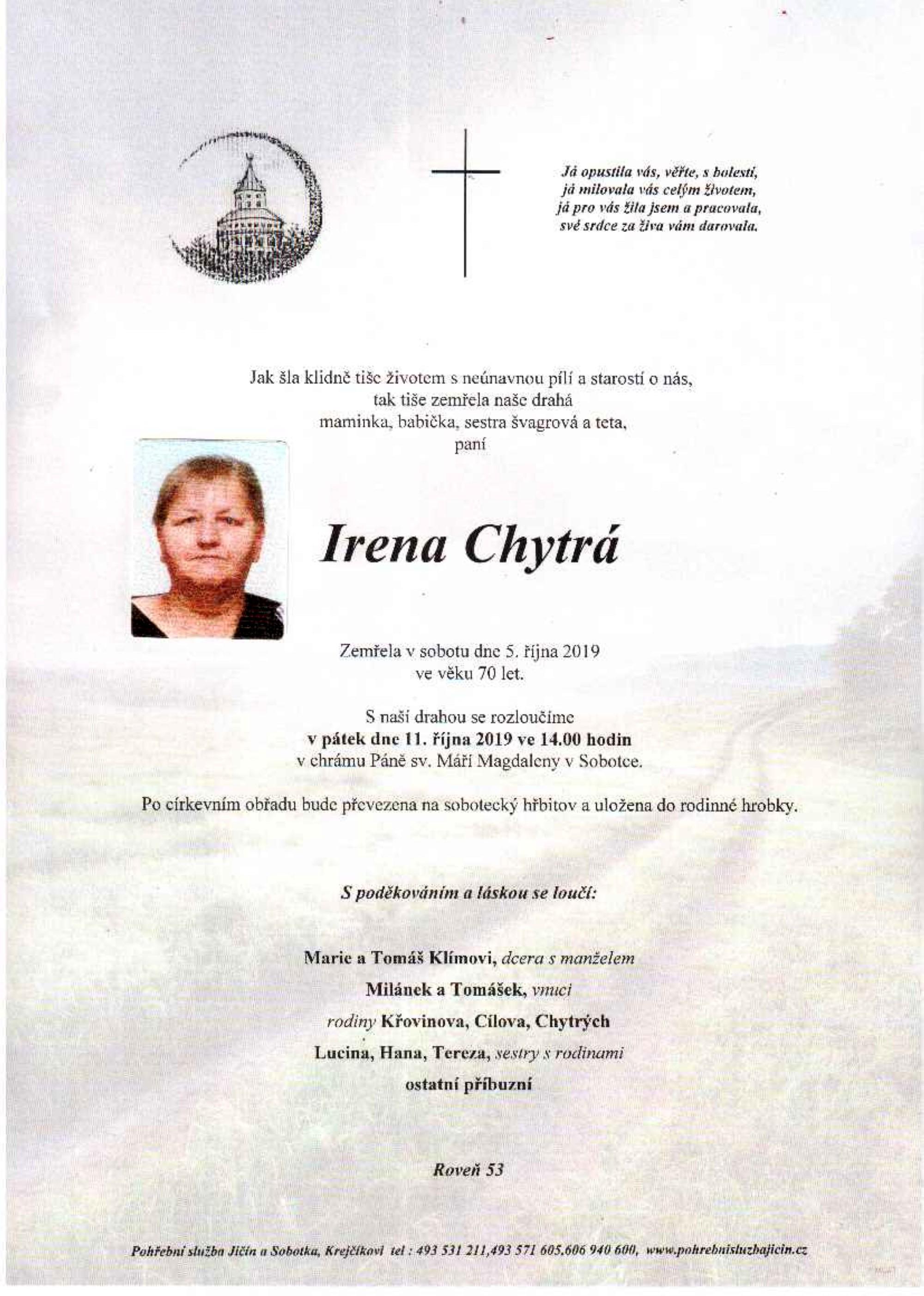 Irena Chytrá