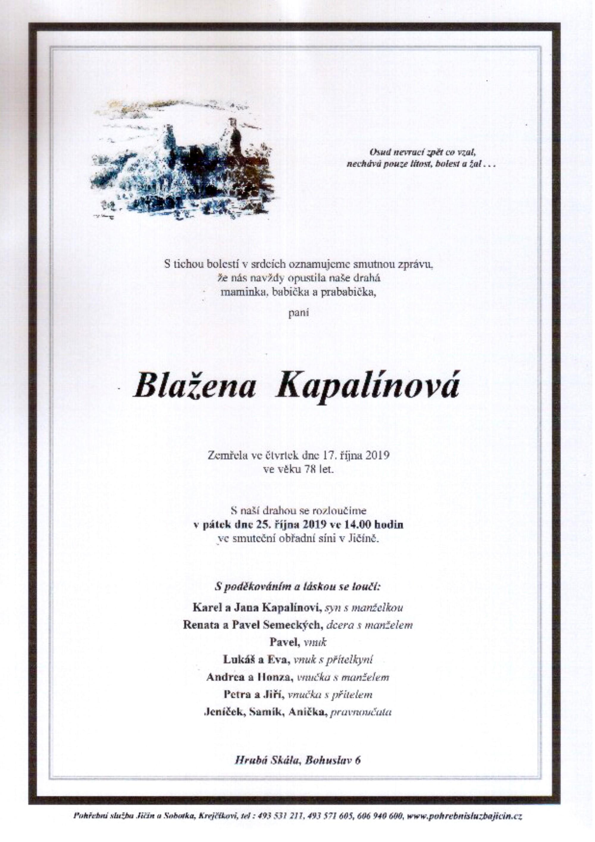 Blažena Kapalínová