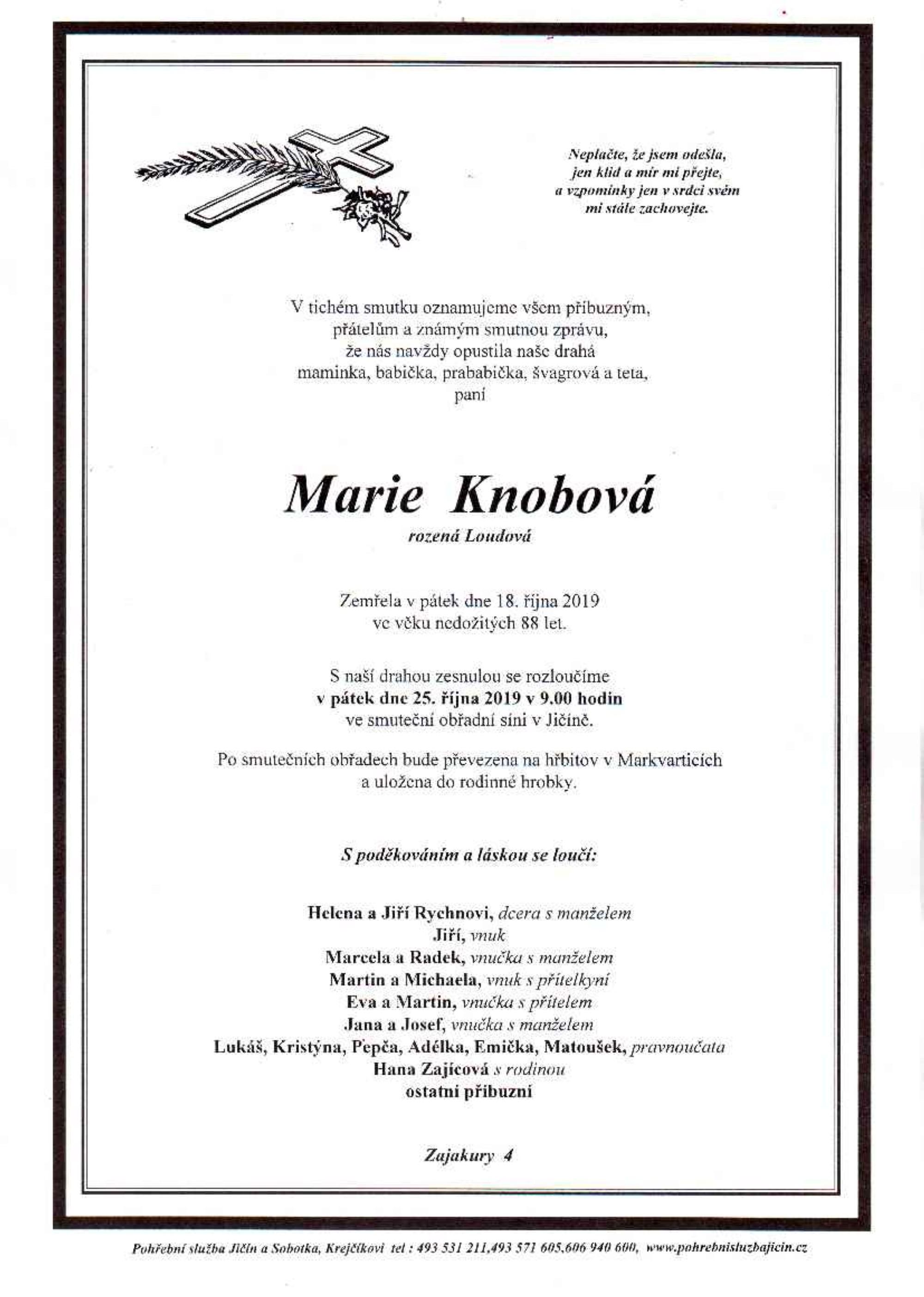 Marie Knobová