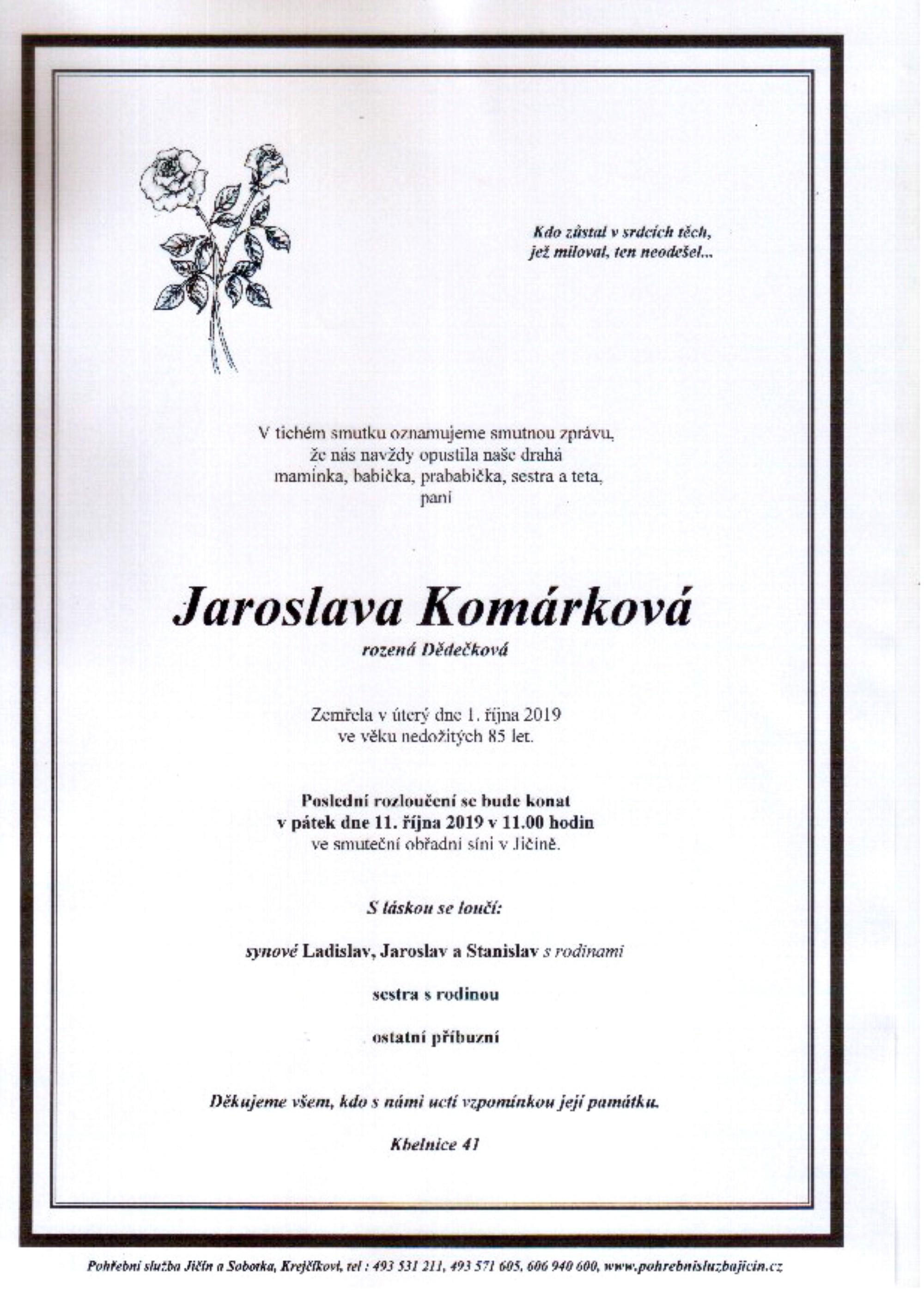 Jaroslava Komárková