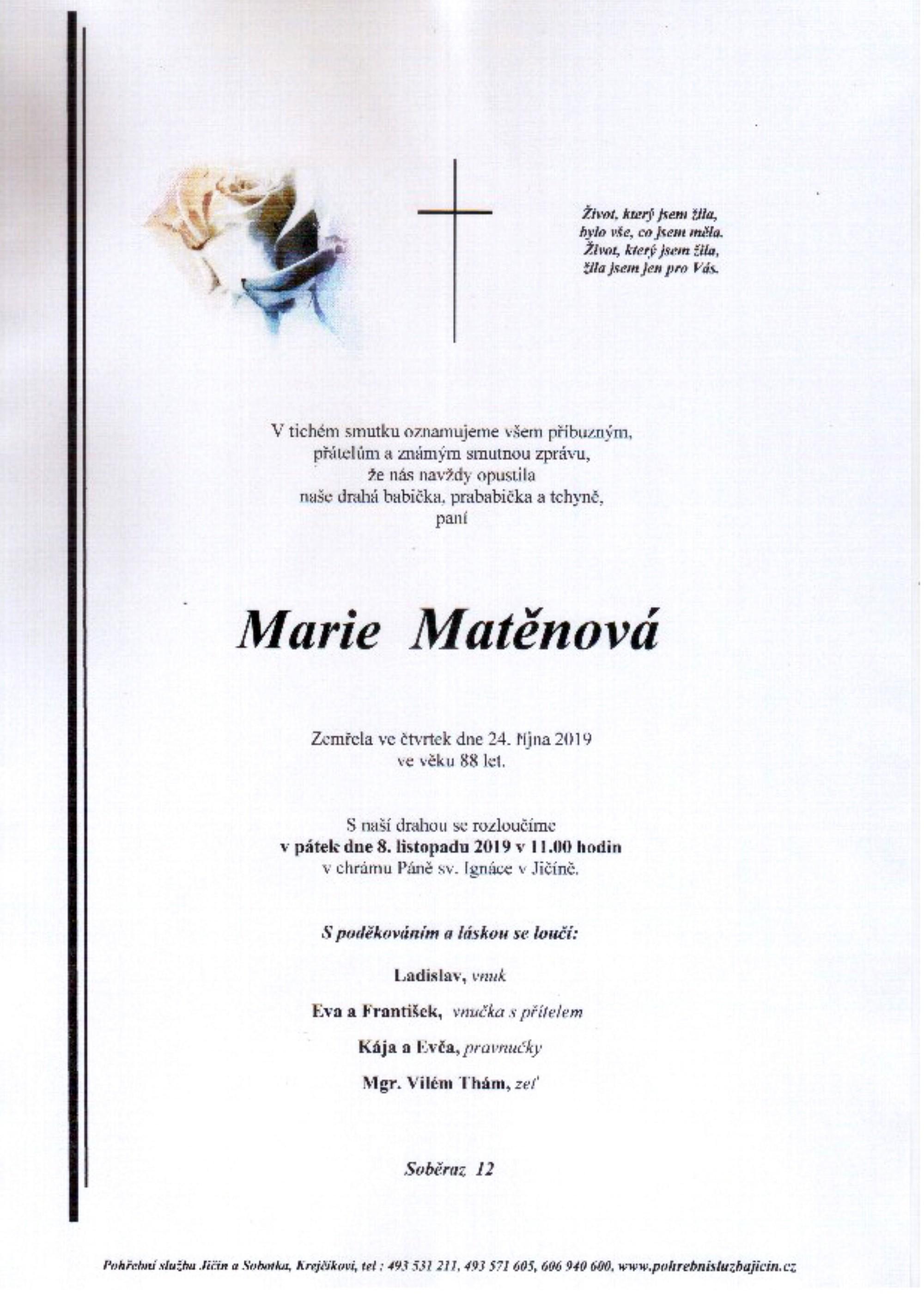 Marie Matěnová