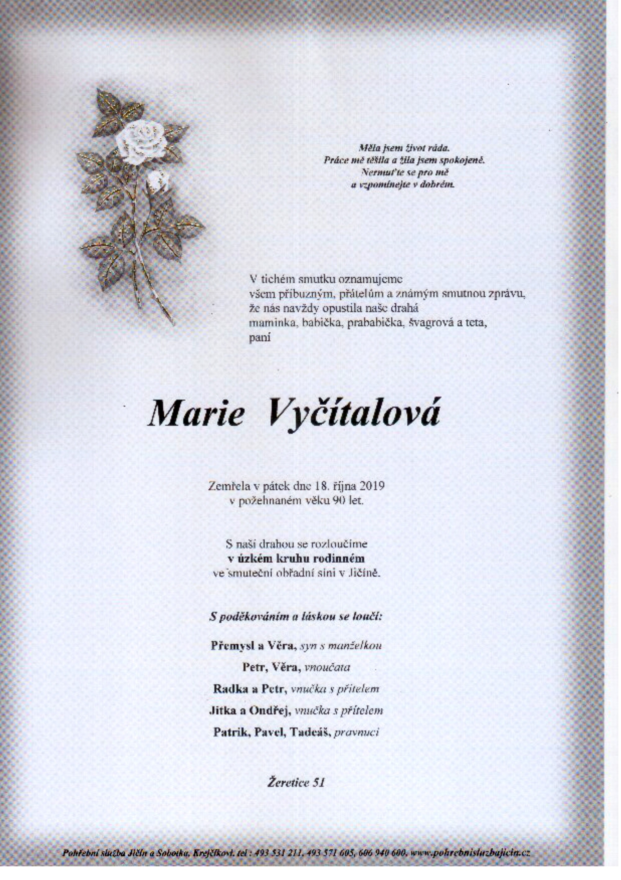 Marie Vyčítalová