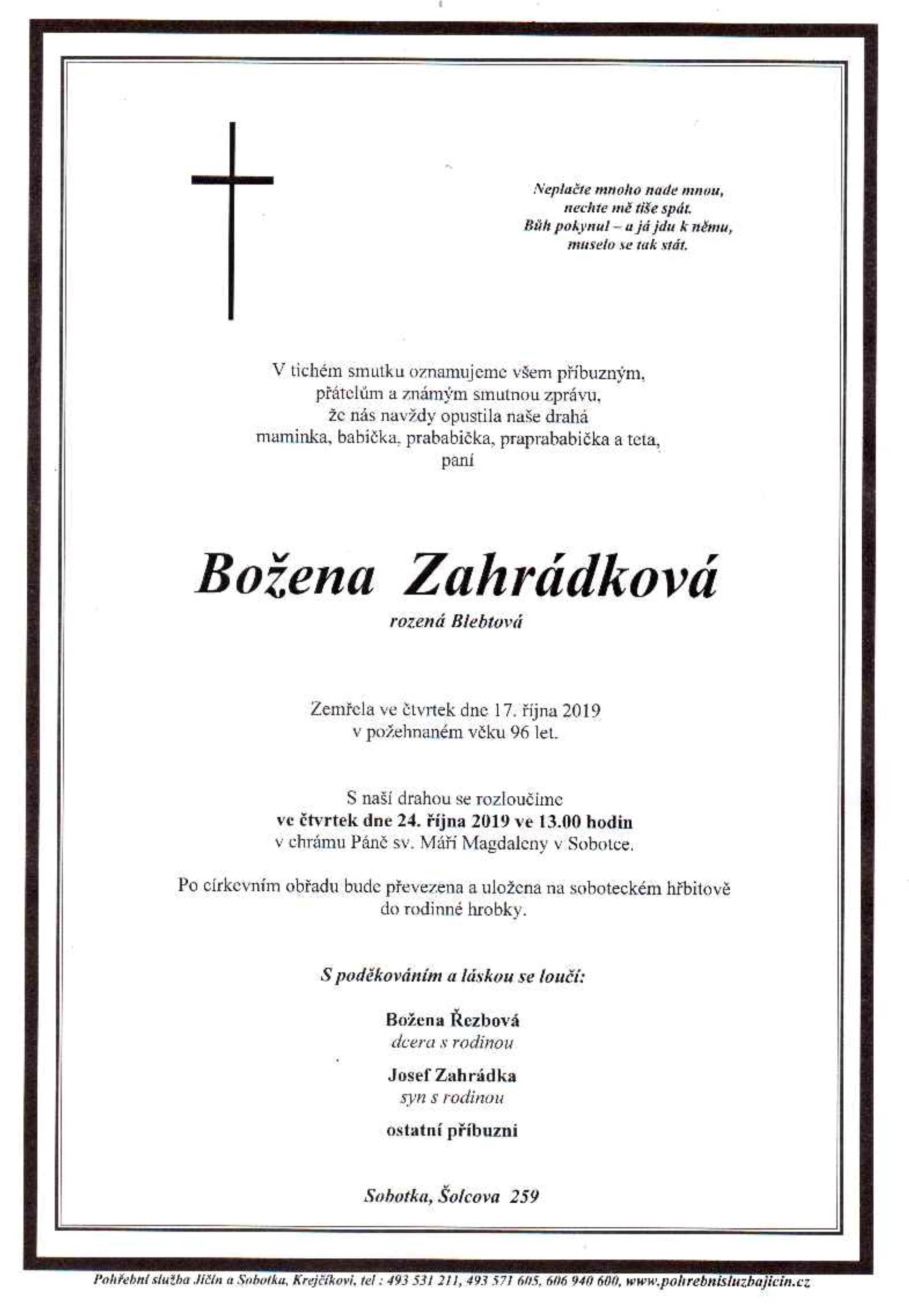 Božena Zahrádková