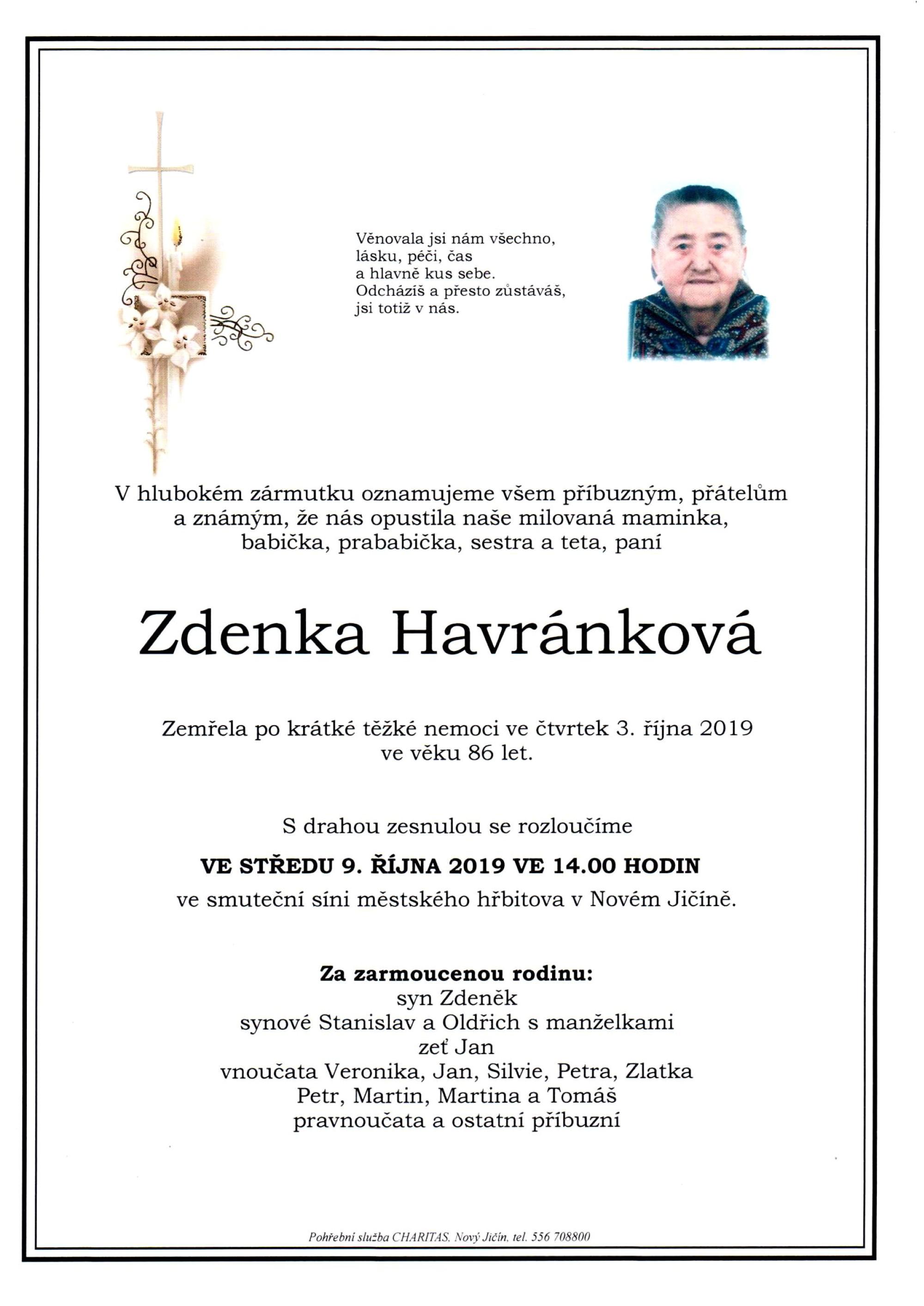 Zdenka Havránková