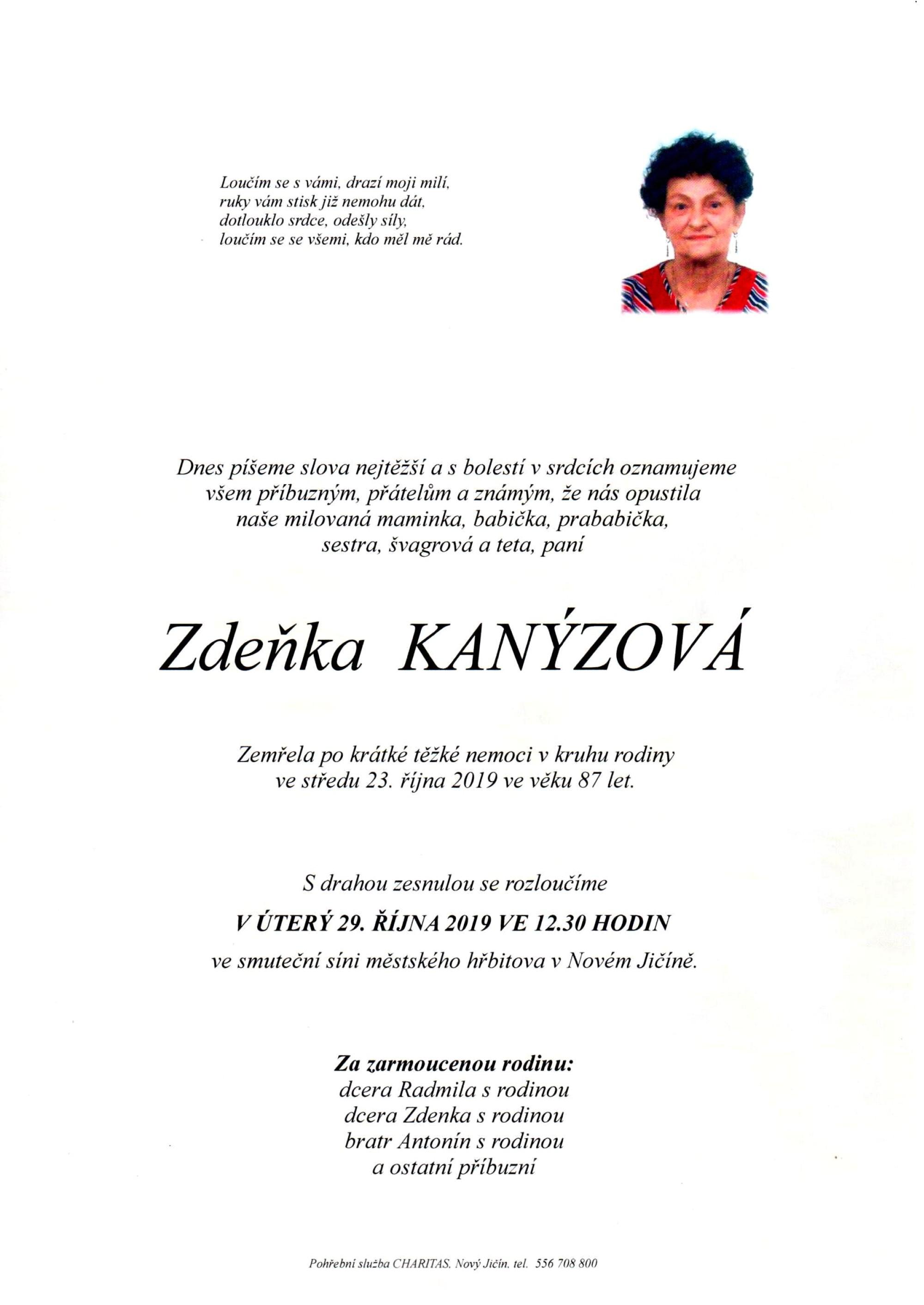 Zdeňka Kanýzová