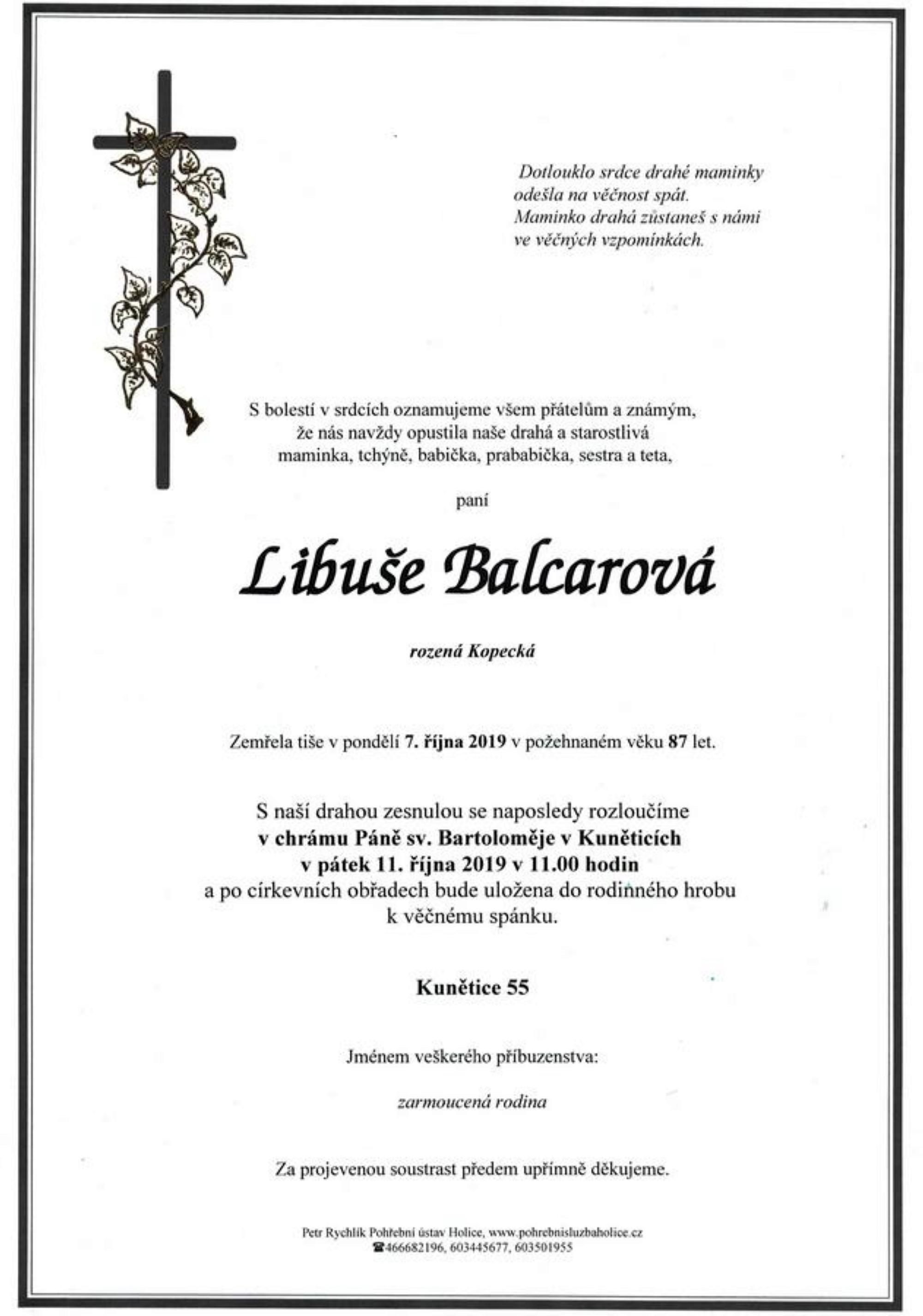 Libuše Balcarová