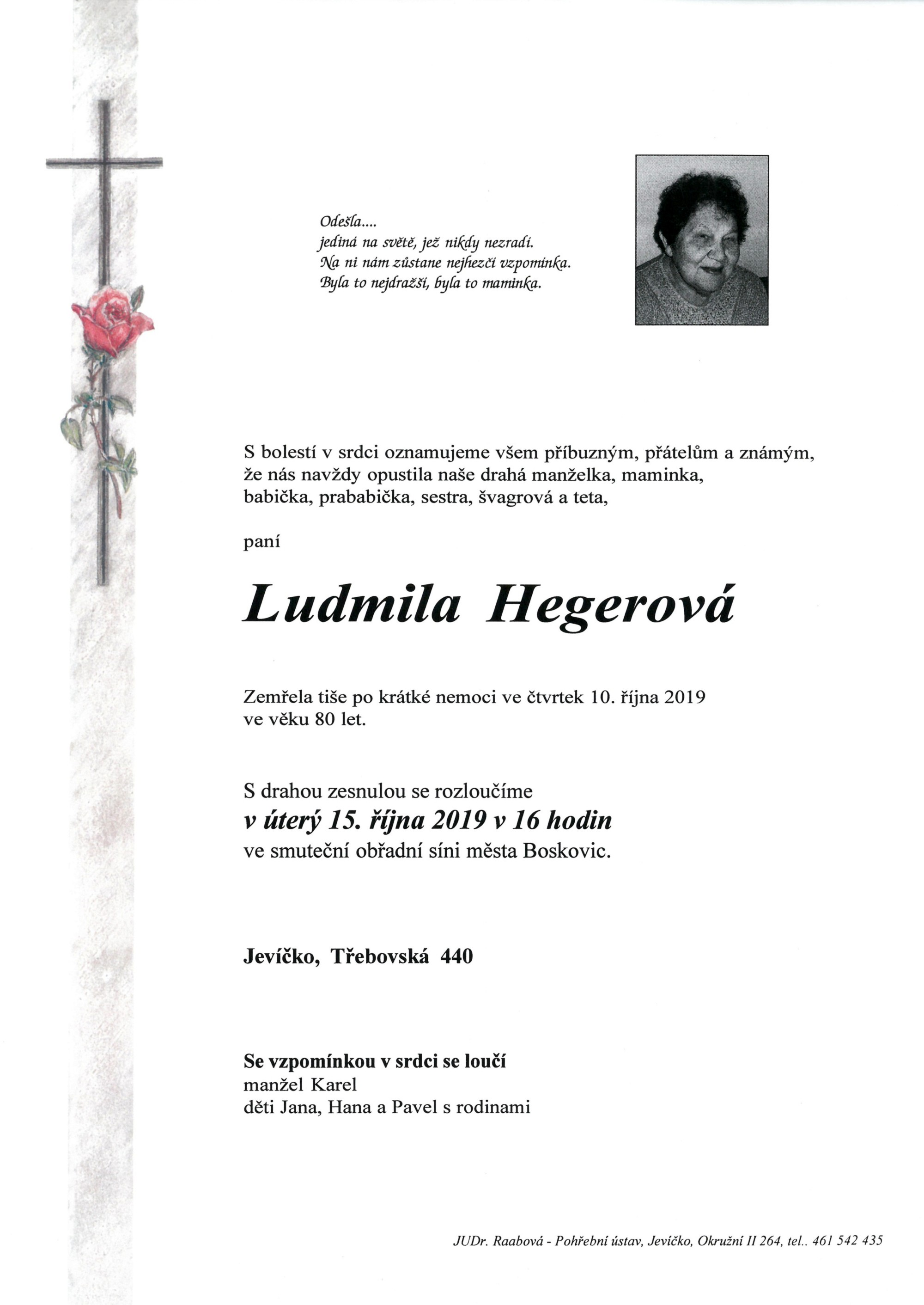 Ludmila Hegerová
