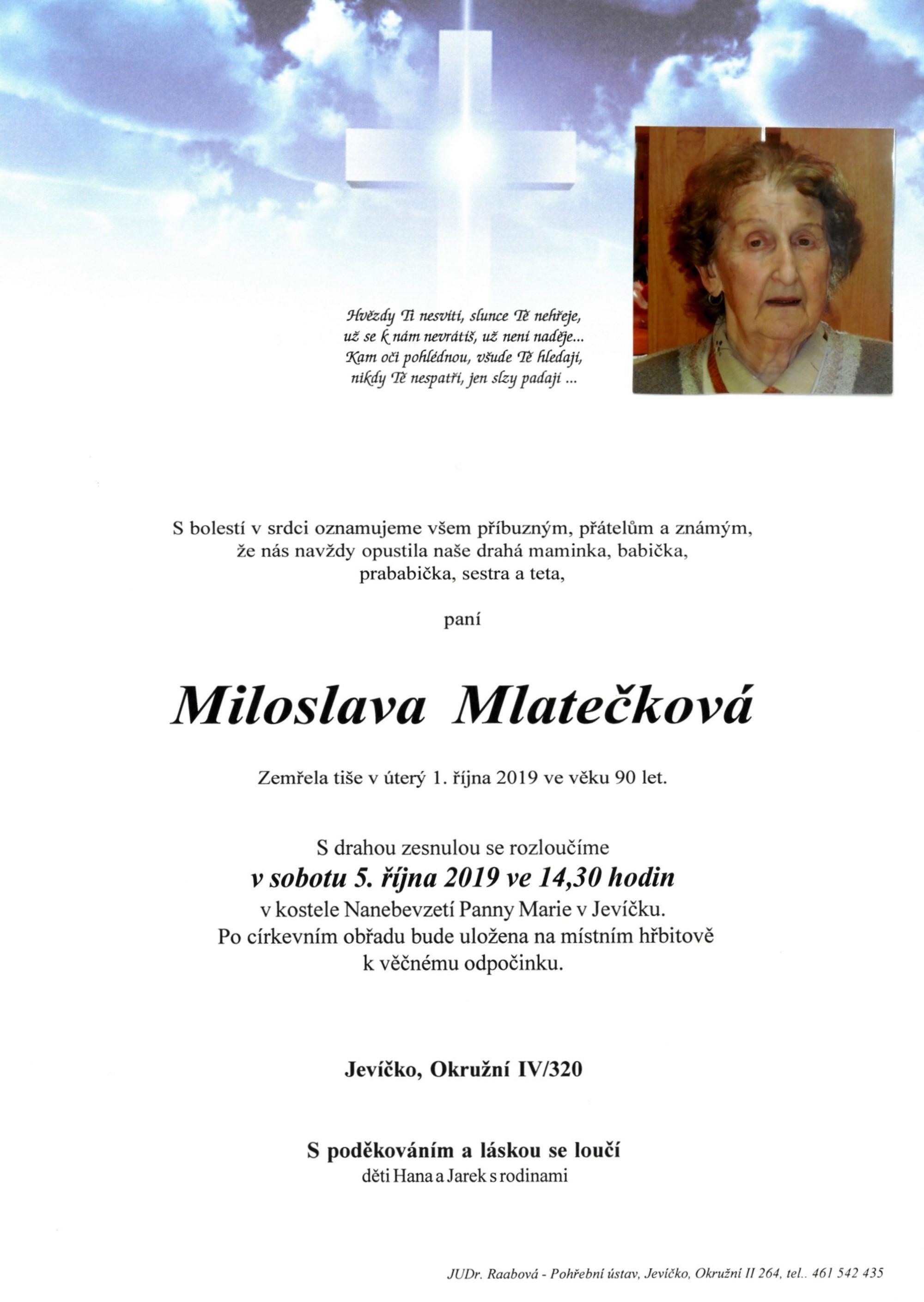 Miloslava Mlatečková