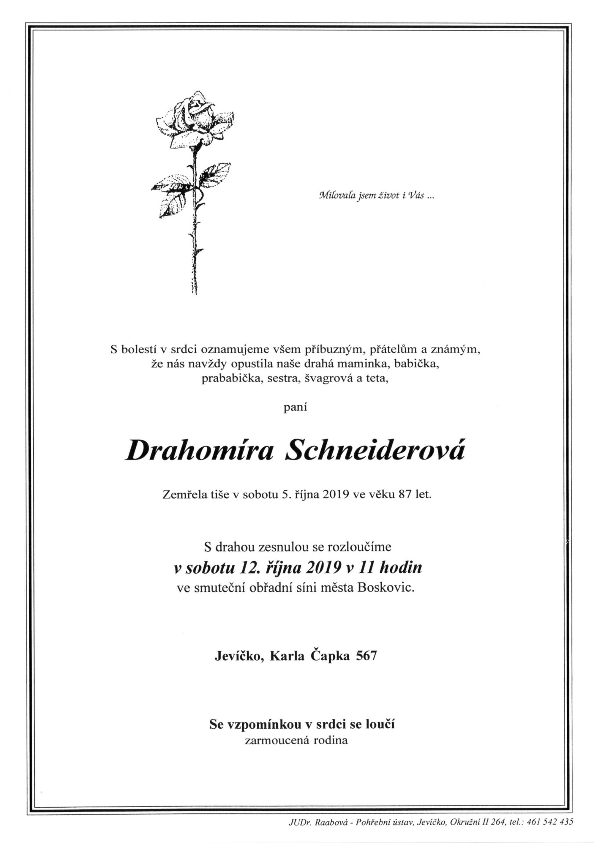 Drahomíra Schneiderová