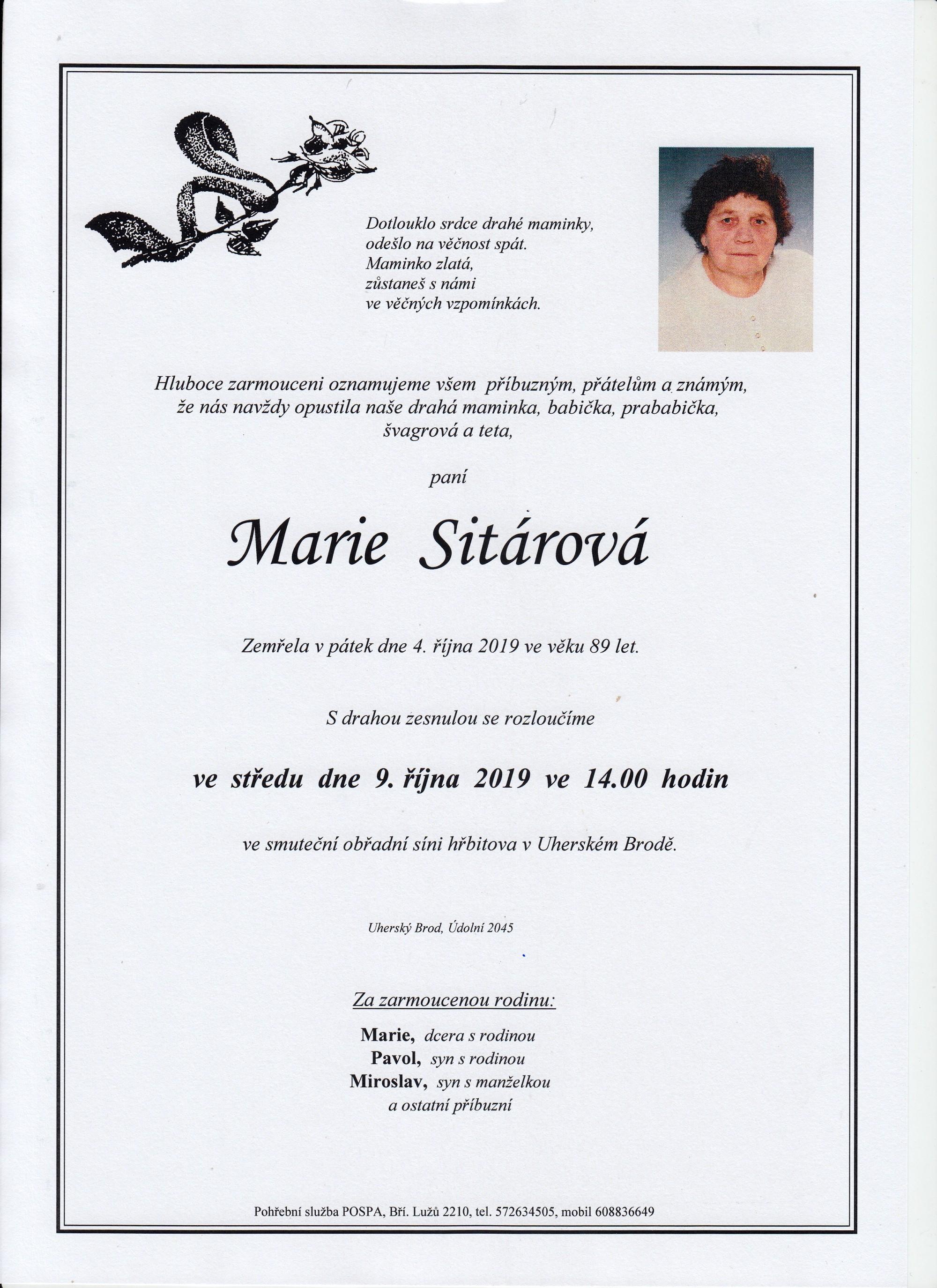 Marie Sitárová