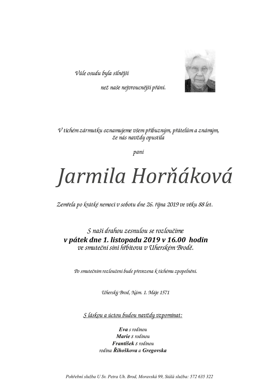 Jarmila Horňáková