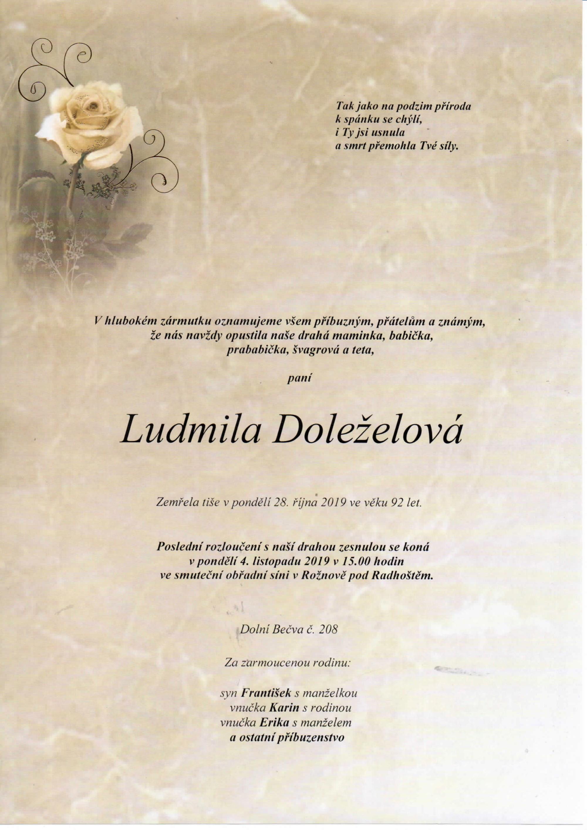 Ludmila Doleželová