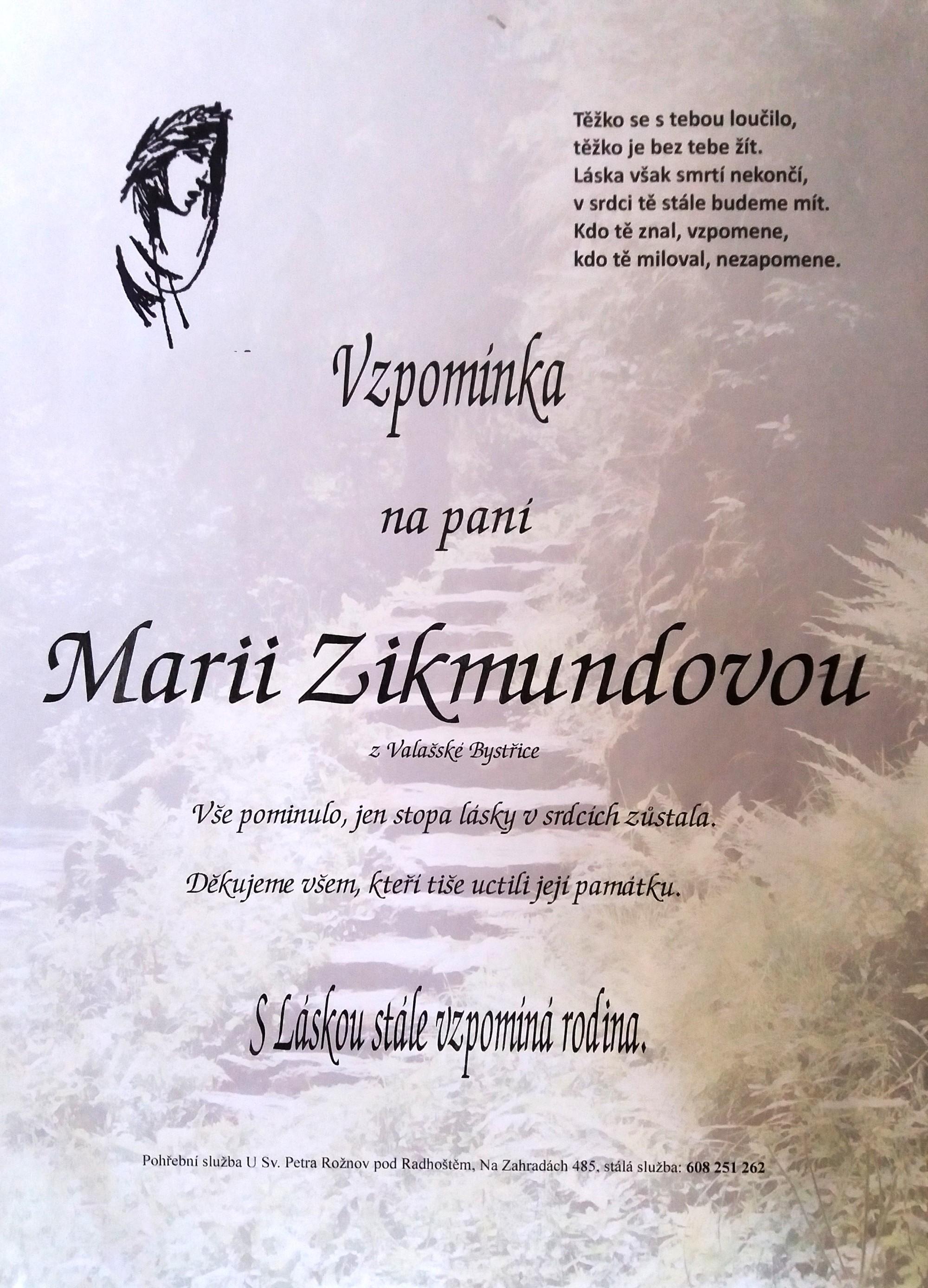 Marie Zikmundová