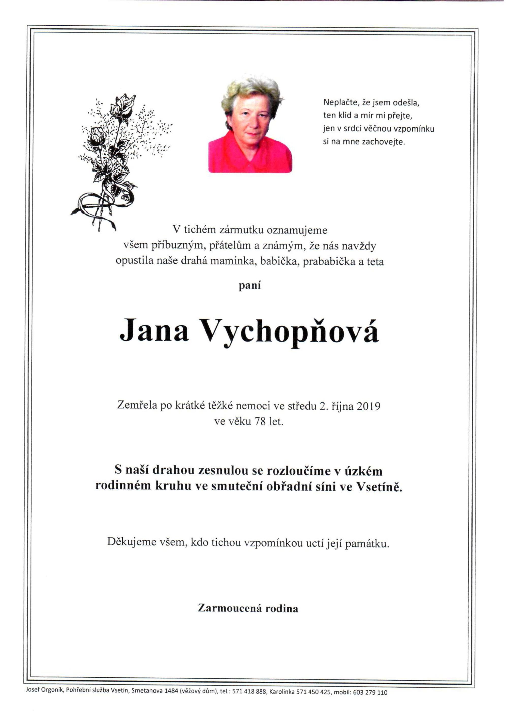 Jana Vychopňová
