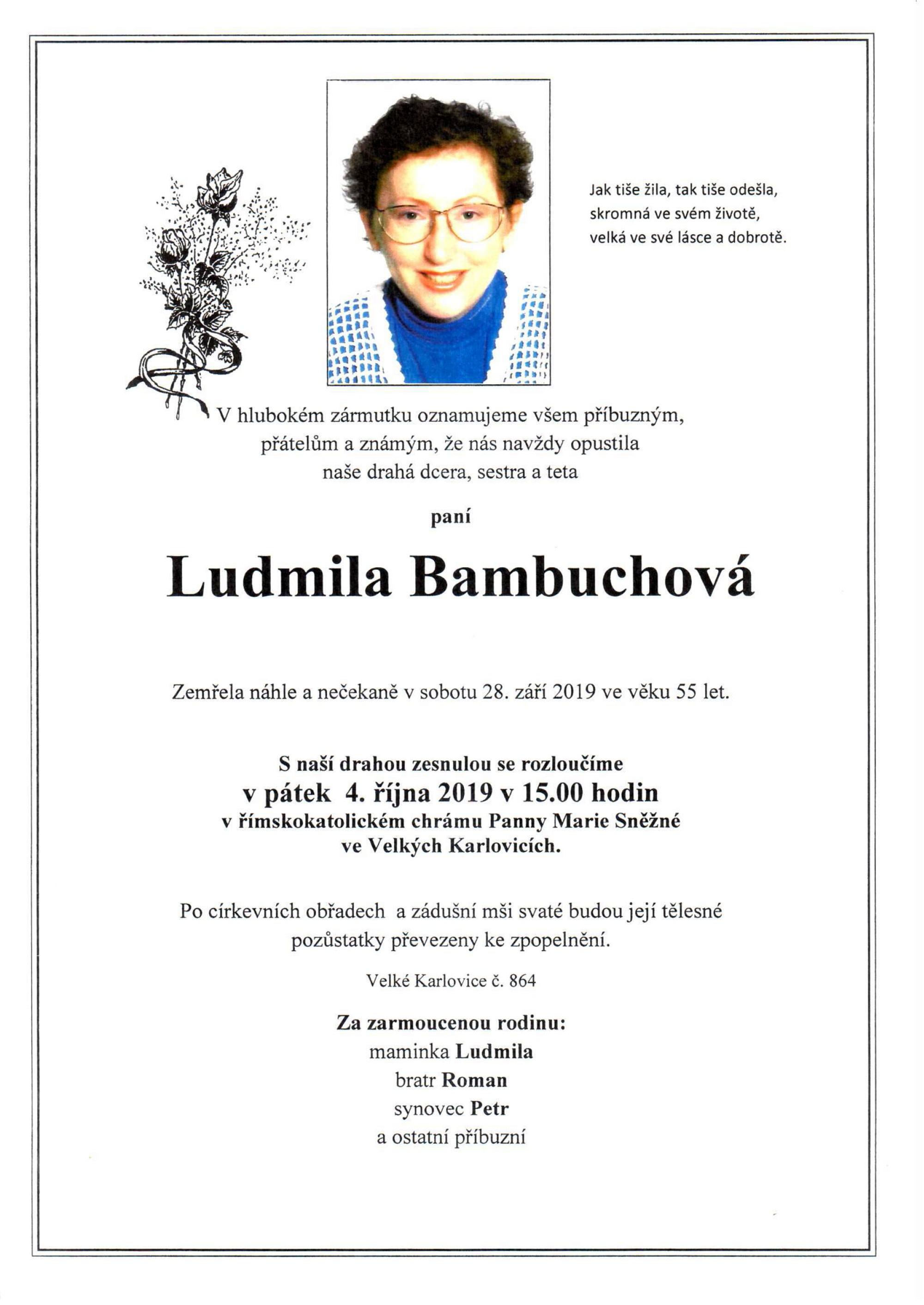 Ludmila Bambuchová