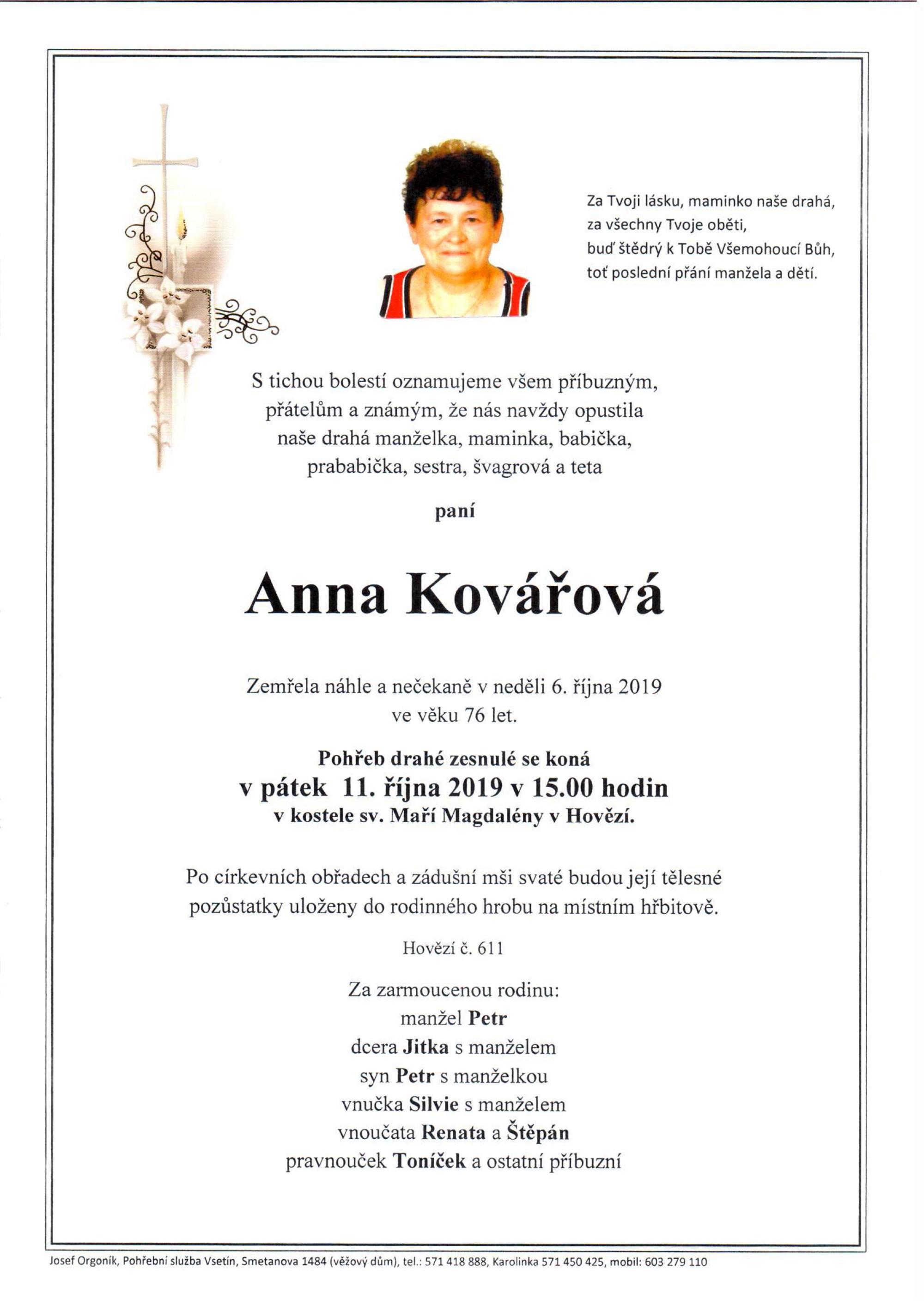 Anna Kovářová