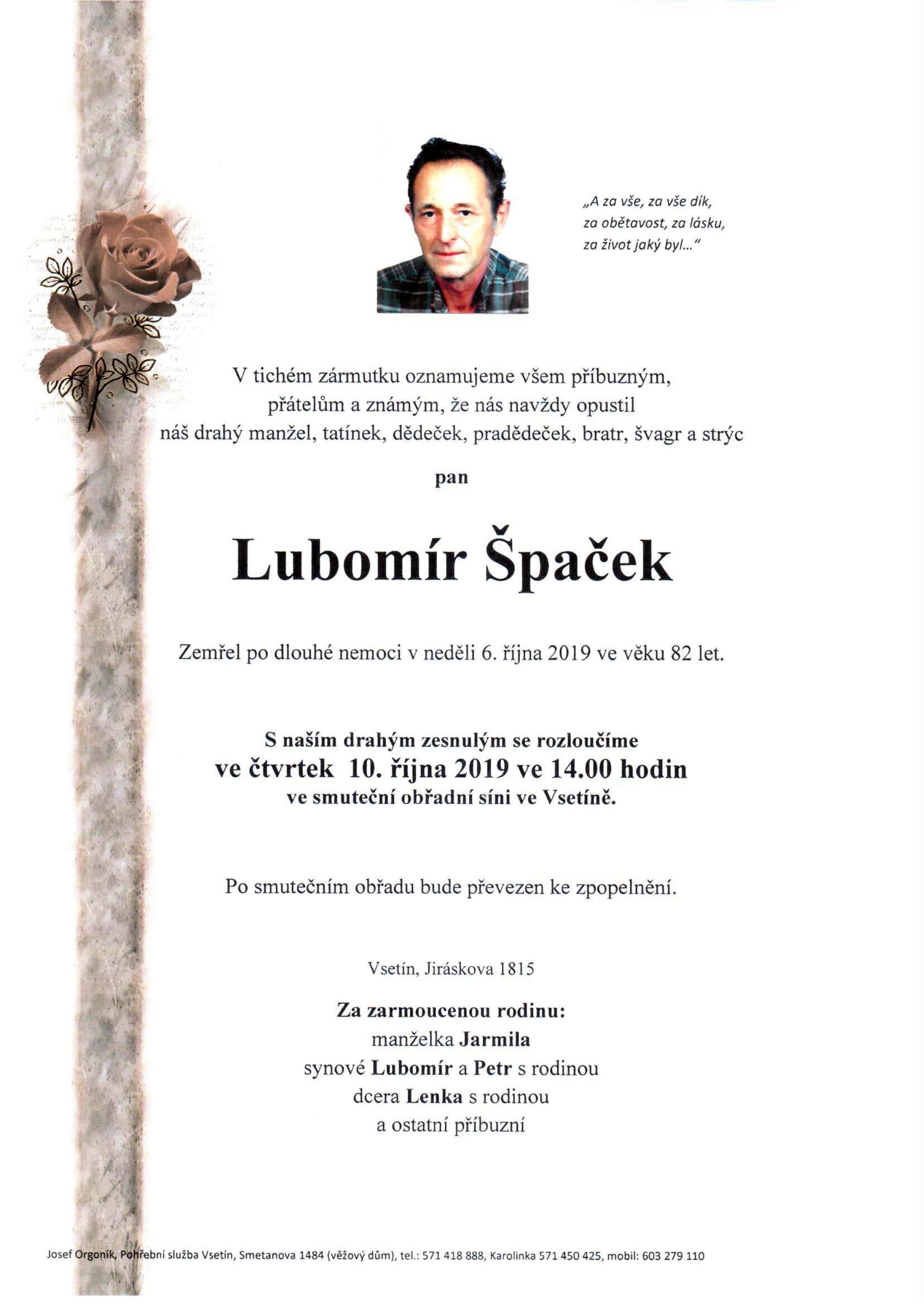 Lubomír Špaček