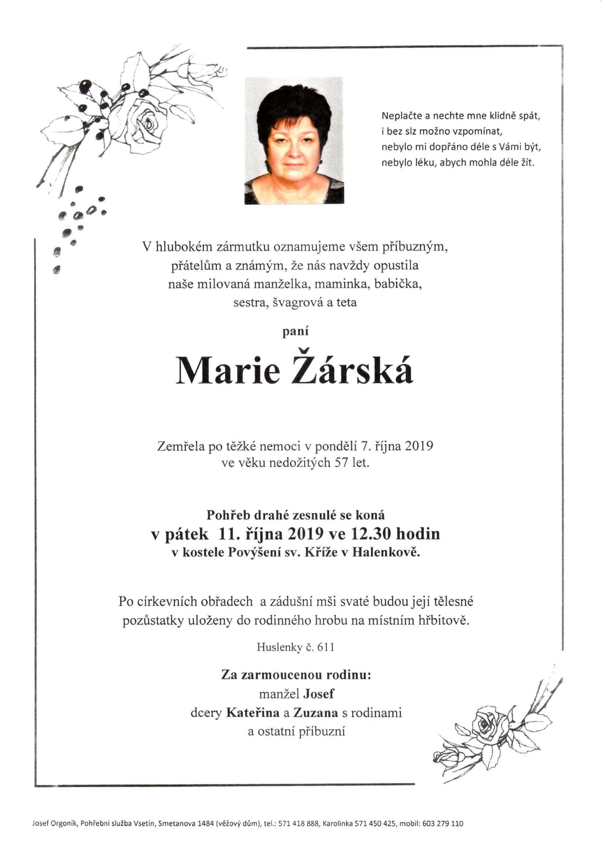 Marie Žárská