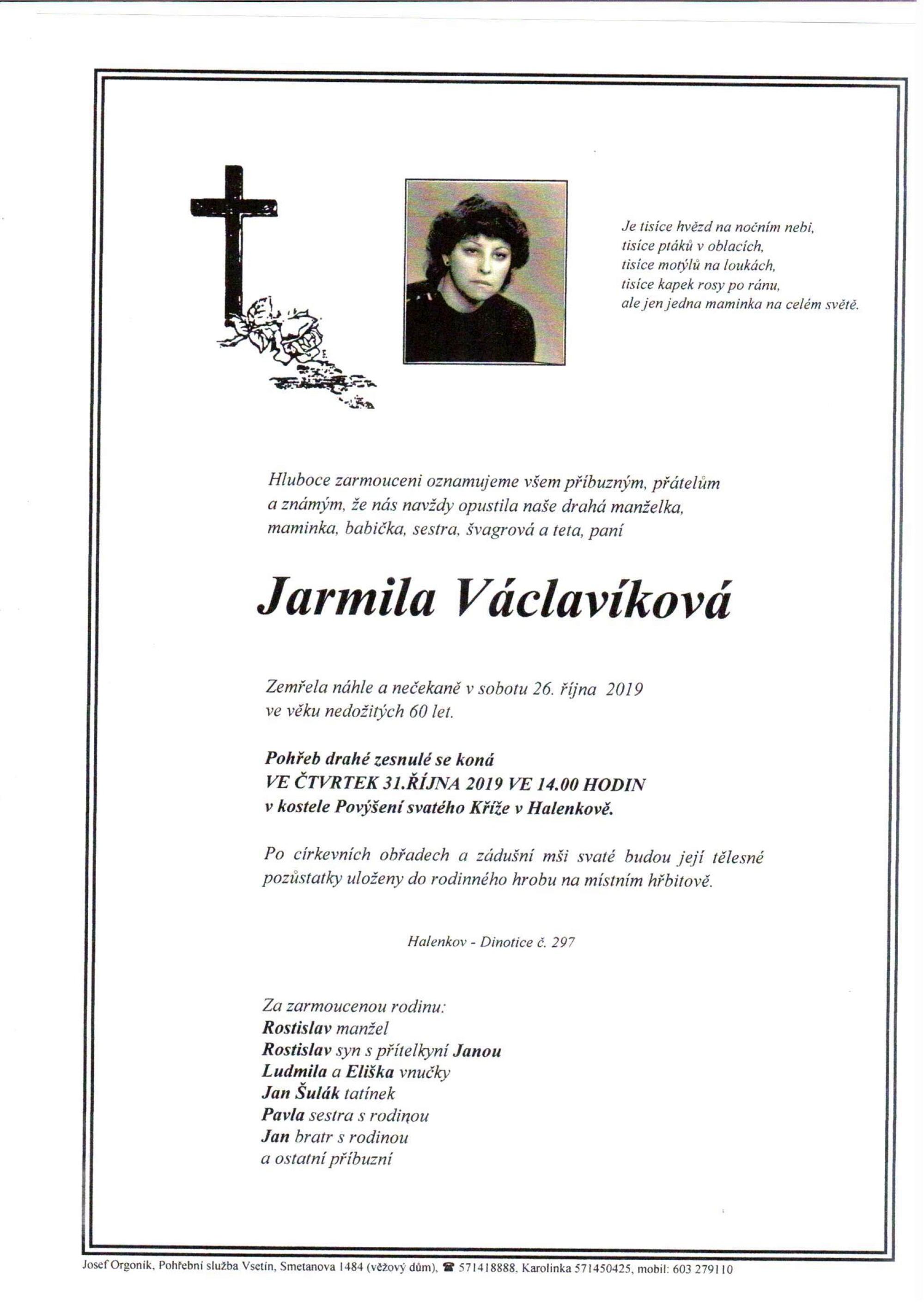 Jarmila Václavíková