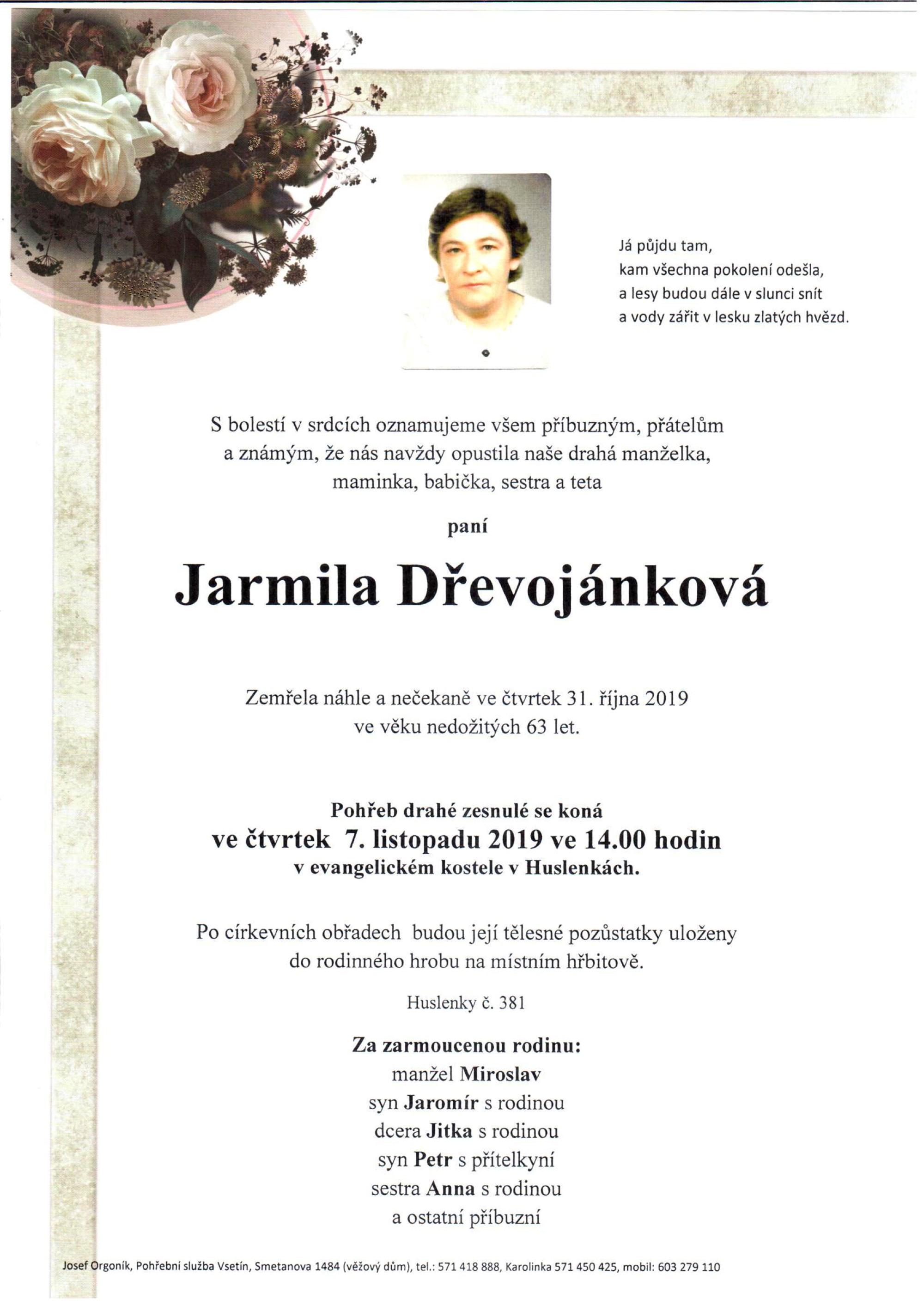 Jarmila Dřevojánková