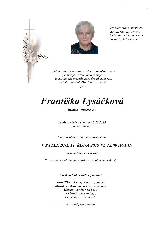 Františka Lysáčková