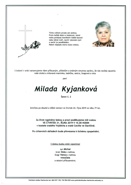 Milada Kyjanková