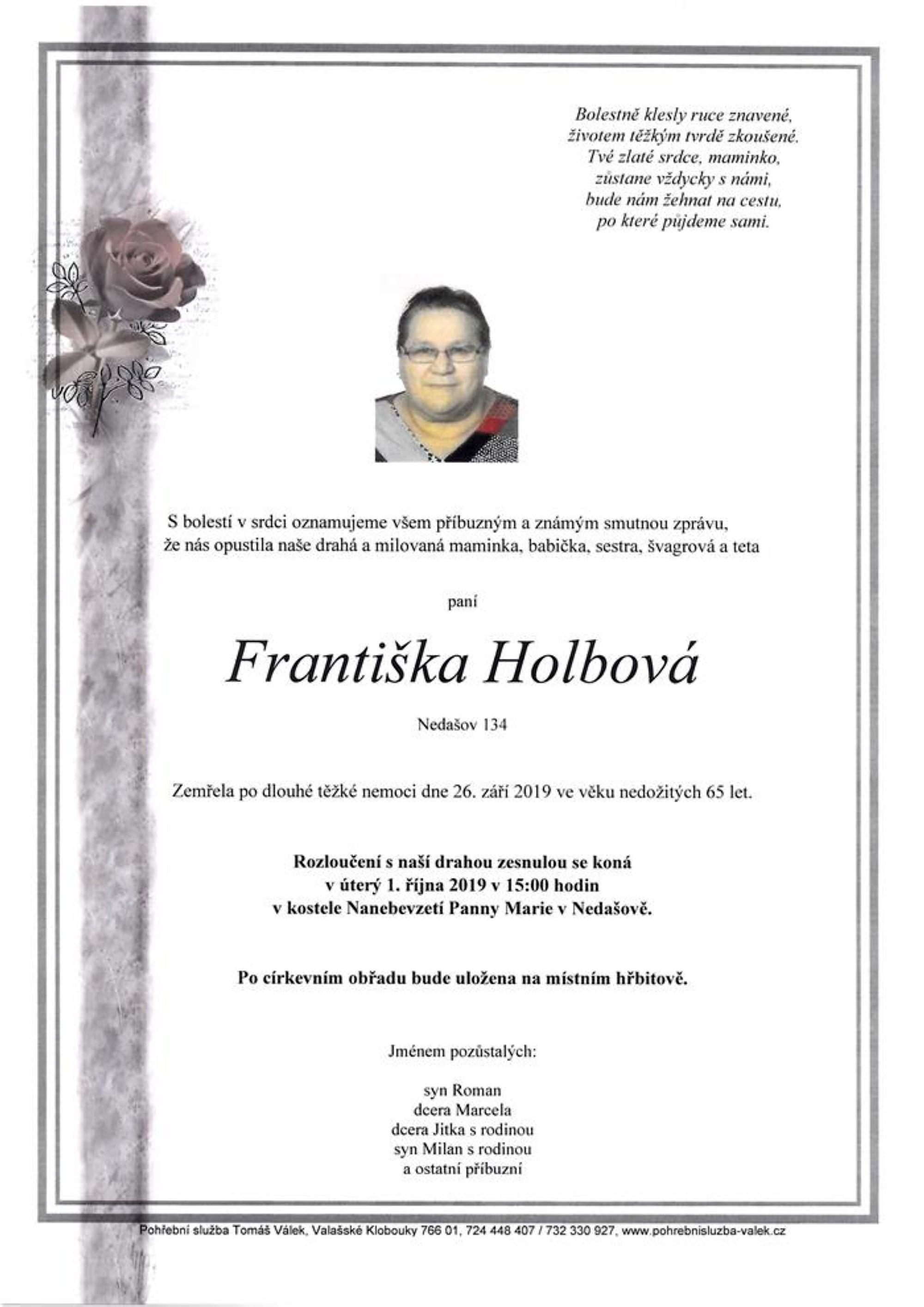 Františka Holbová