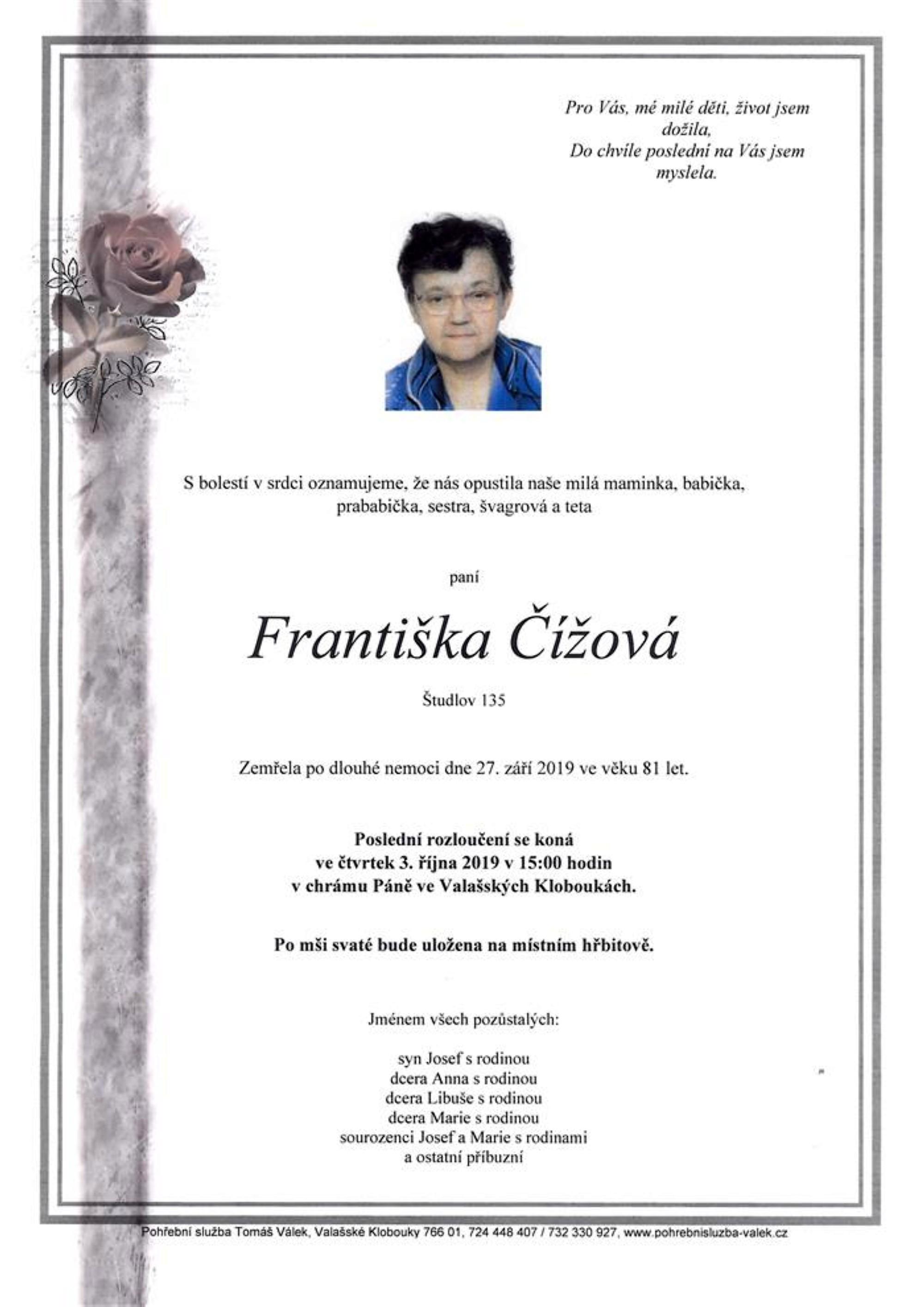Františka Čížová