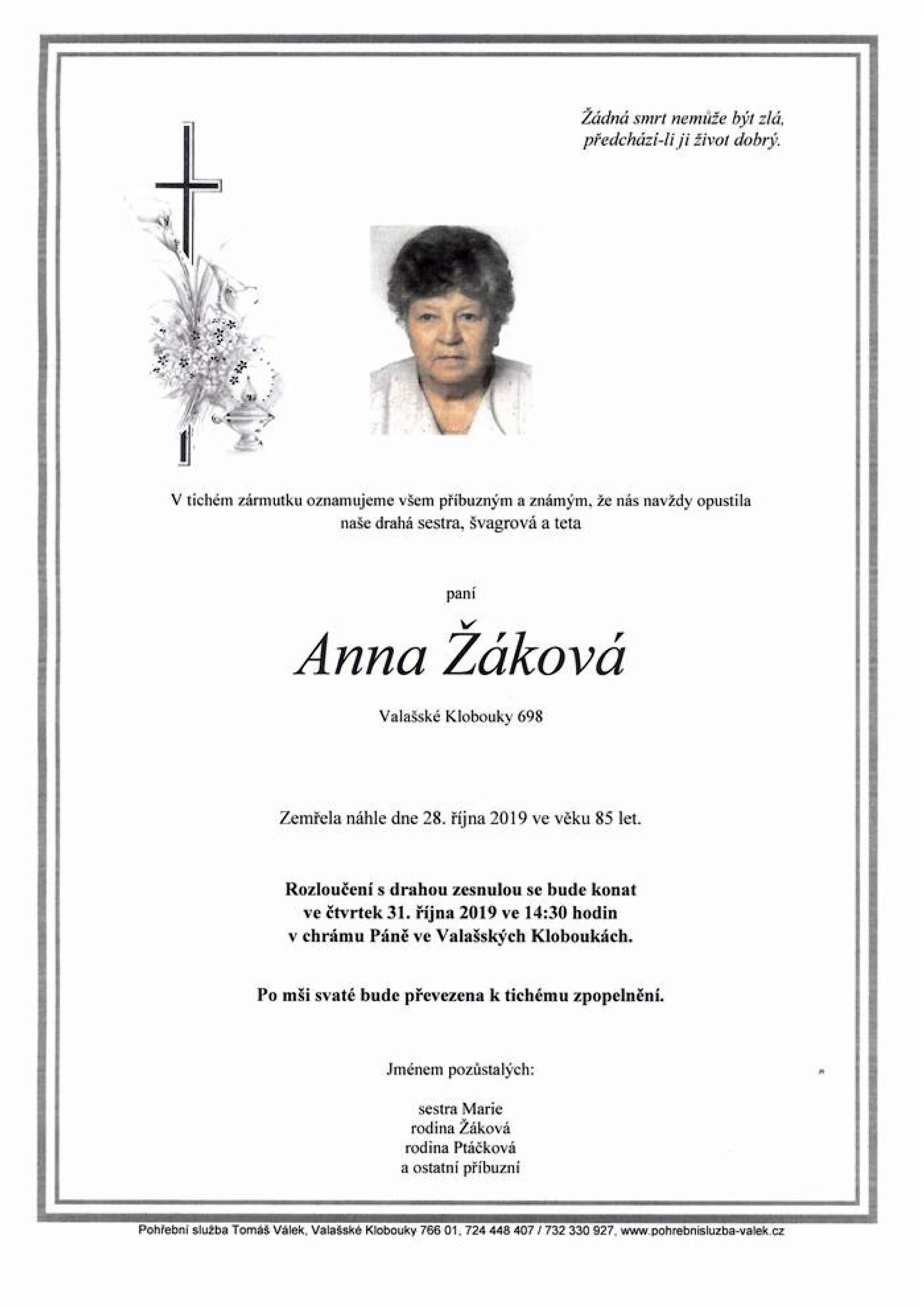 Anna Žáková