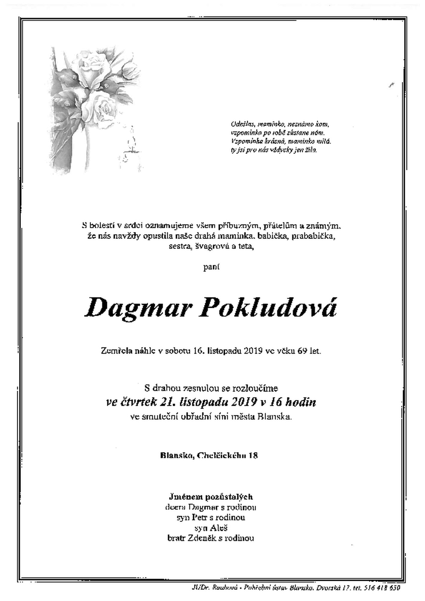 Dagmar Pokludová