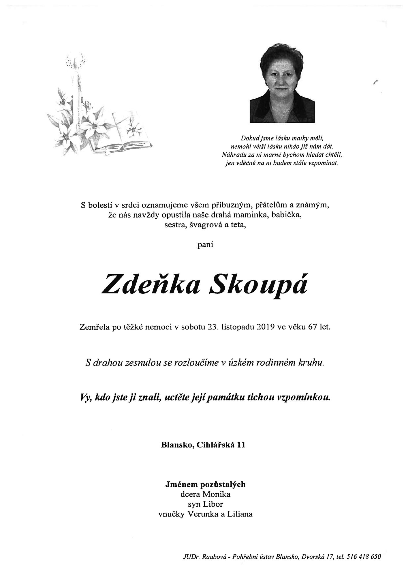Zdeňka Skoupá