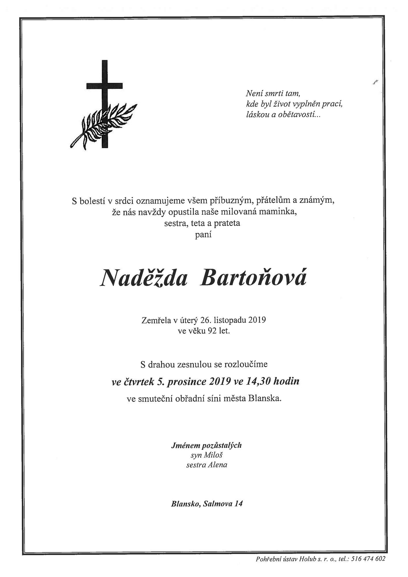 Naděžda Bartoňová