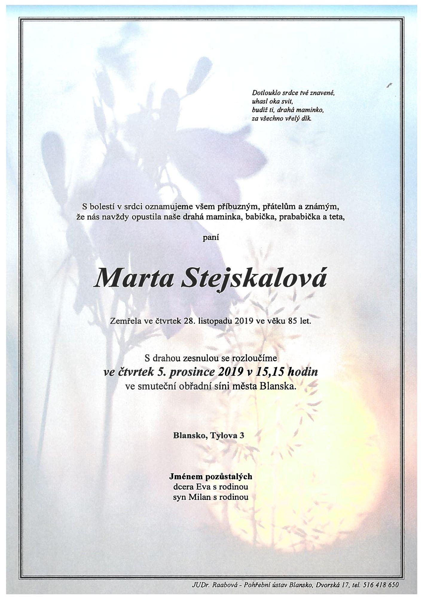 Marta Stejskalová