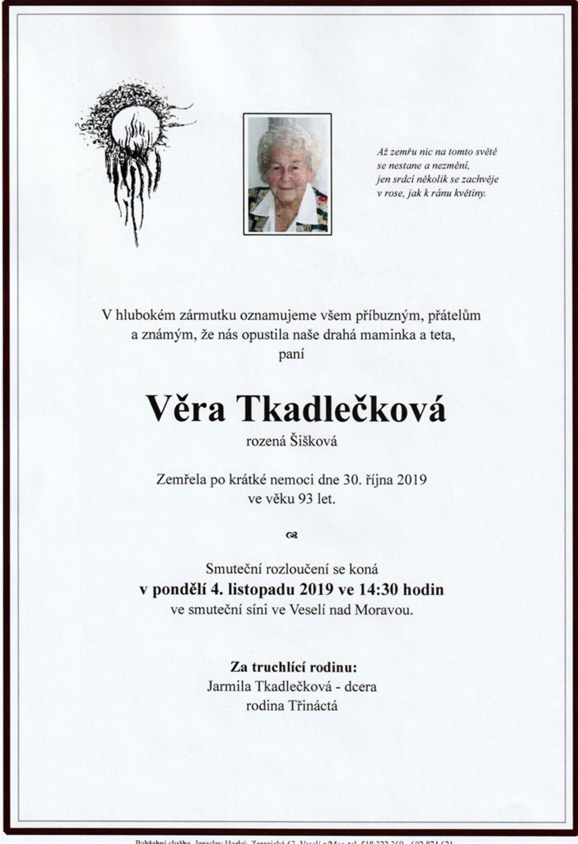 Věra Tkadlečková