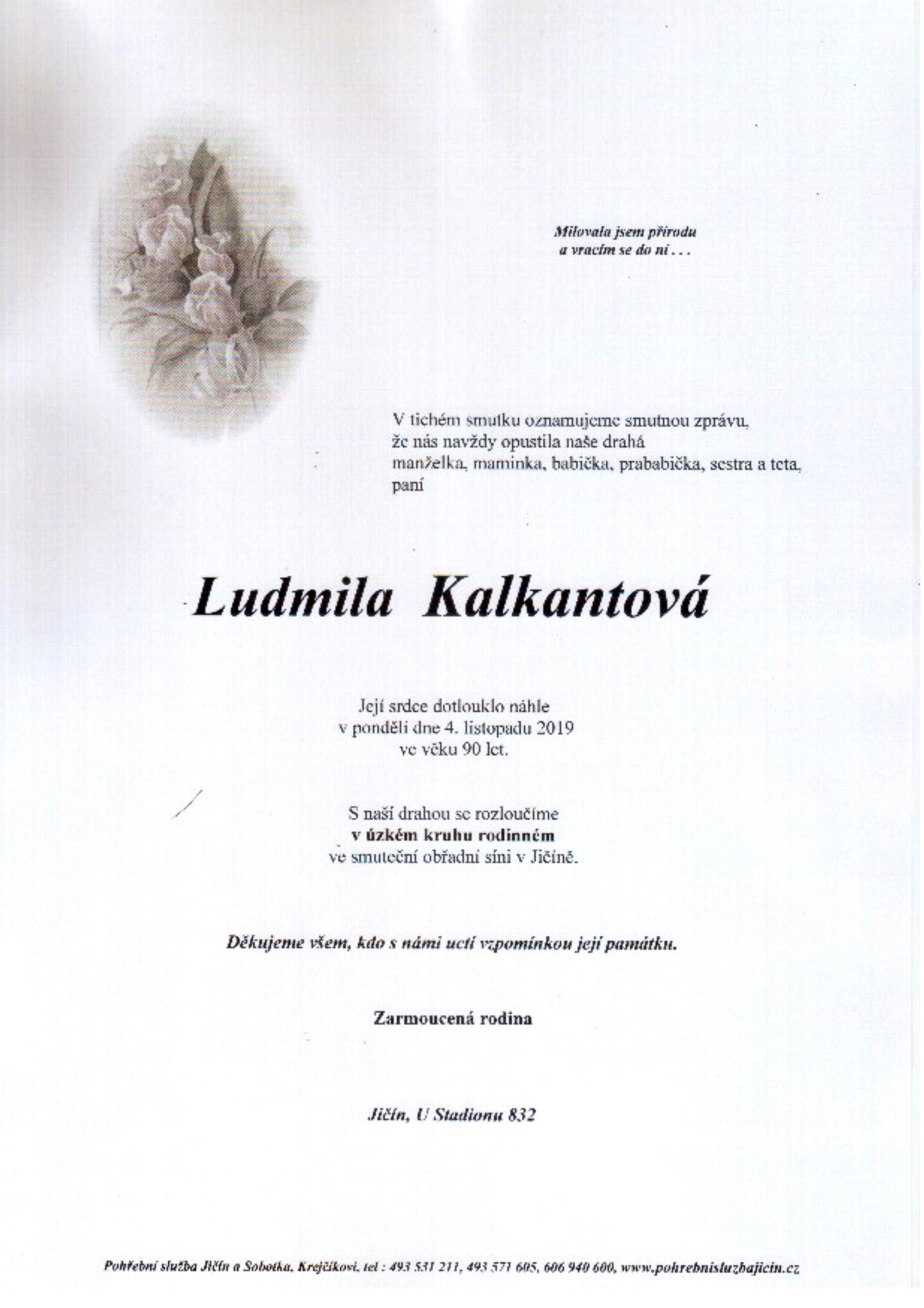Ludmila Kalkantová