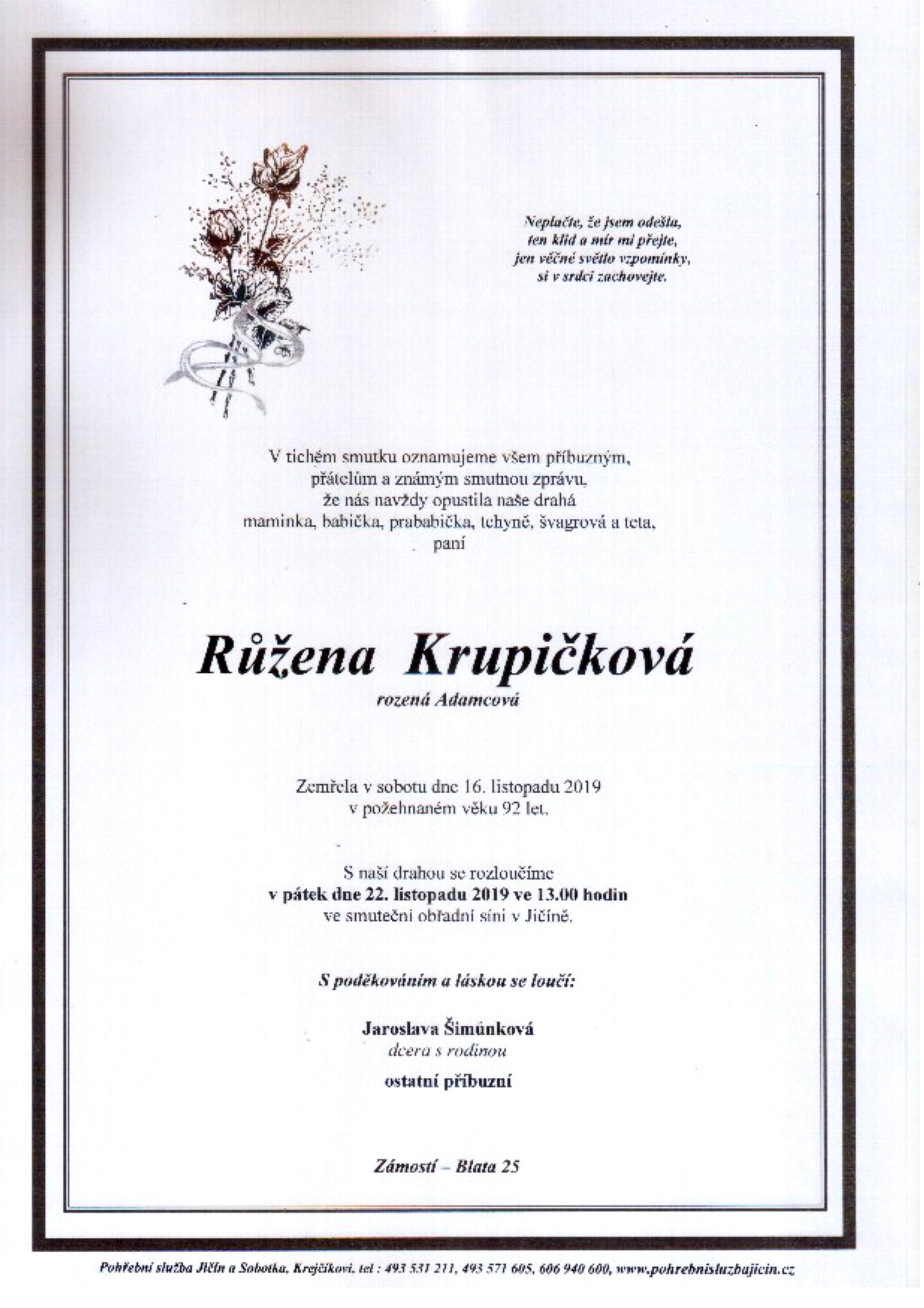 Růžena Krupičková