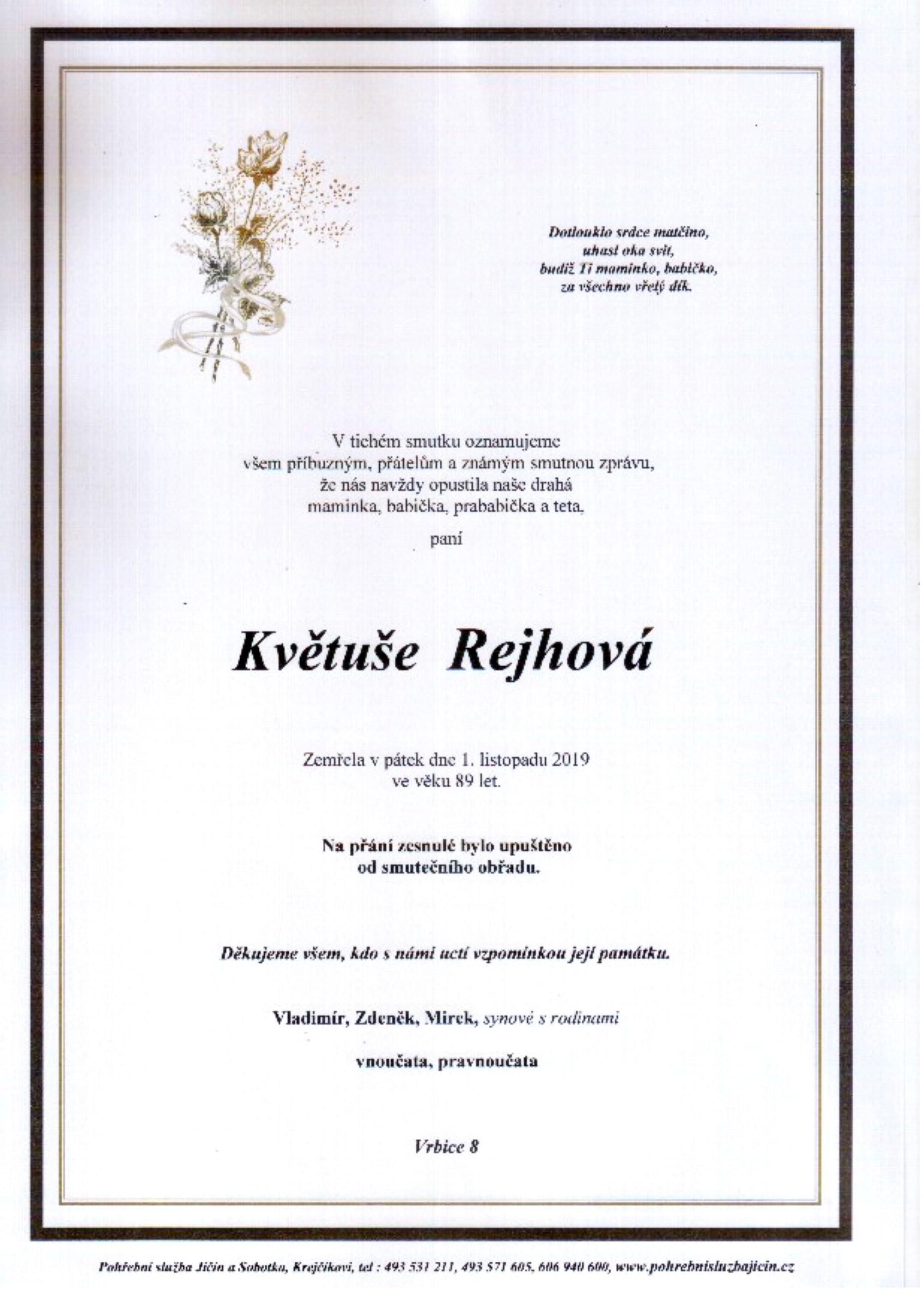 Květuše Rejhová