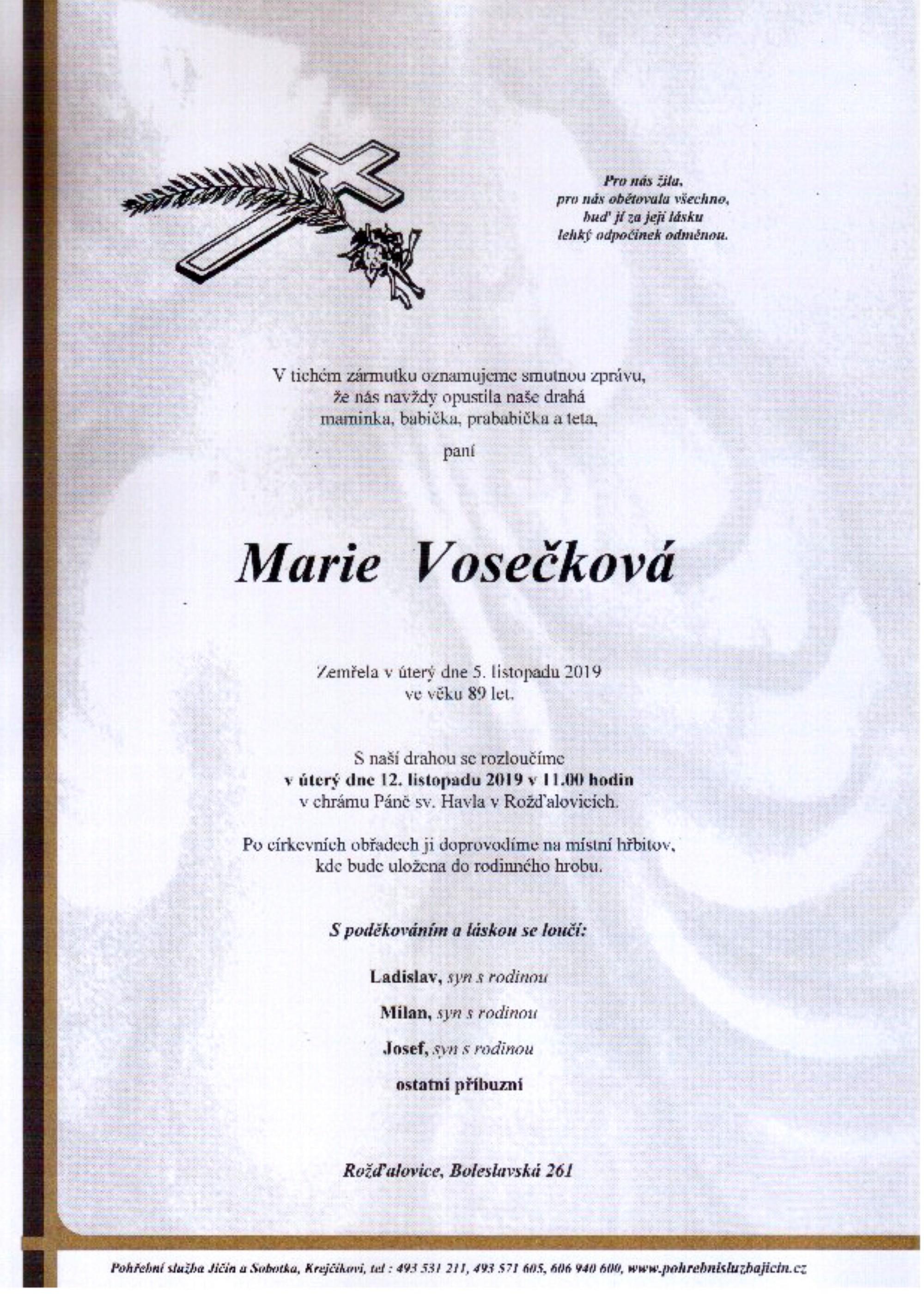 Marie Vosečková