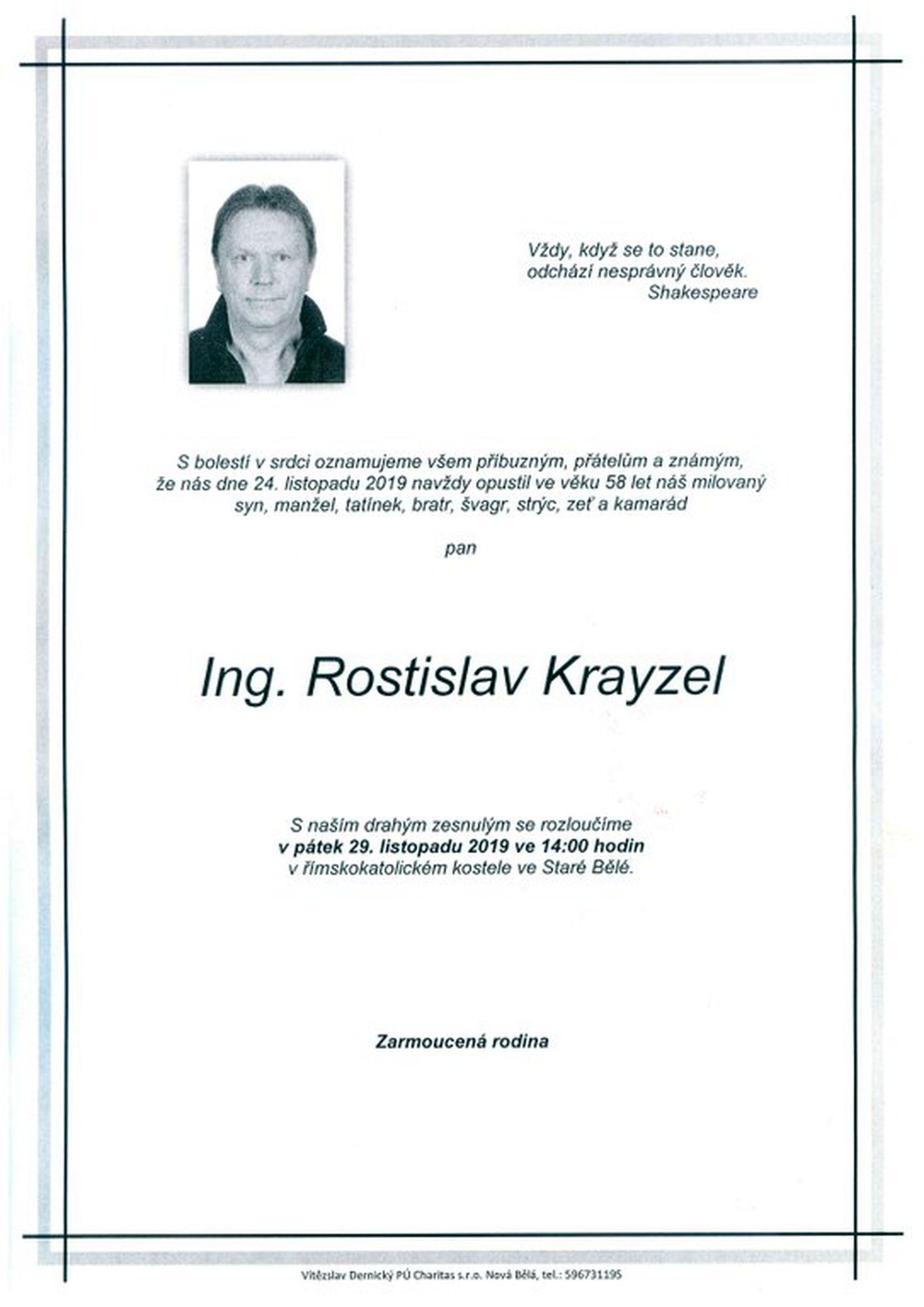 Ing. Rostislav Krayzel