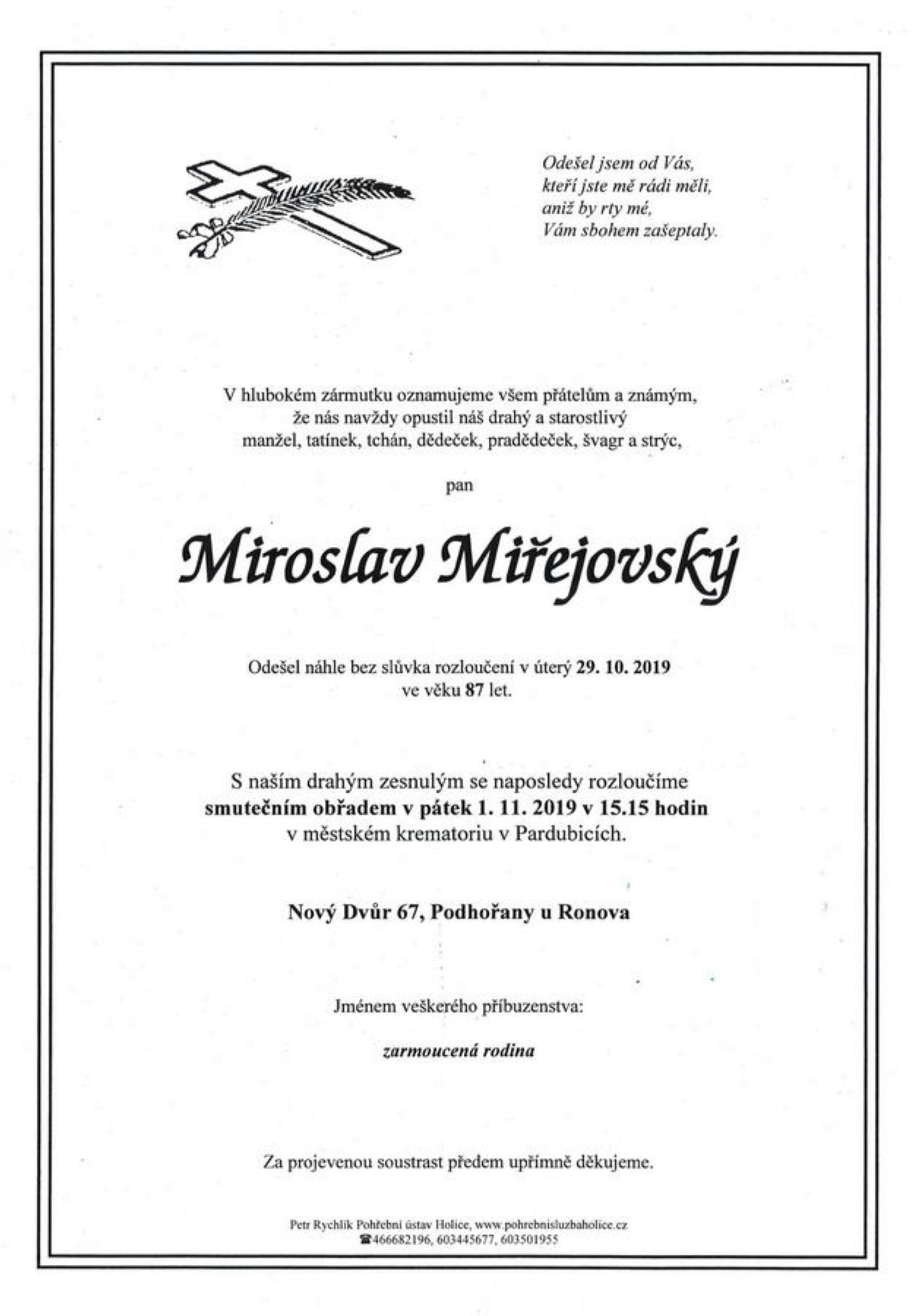 Miroslav Miřejovský