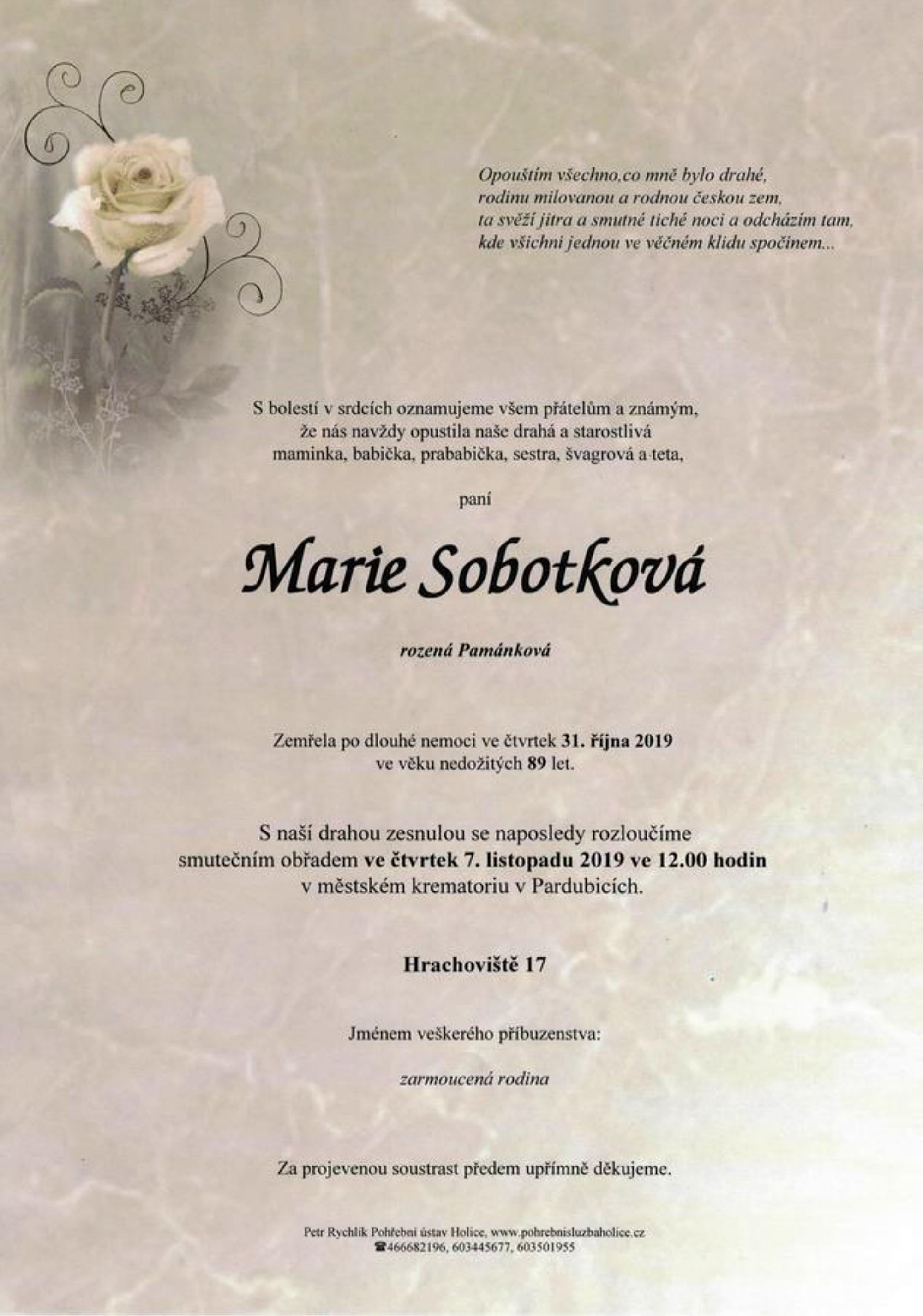 Marie Sobotková