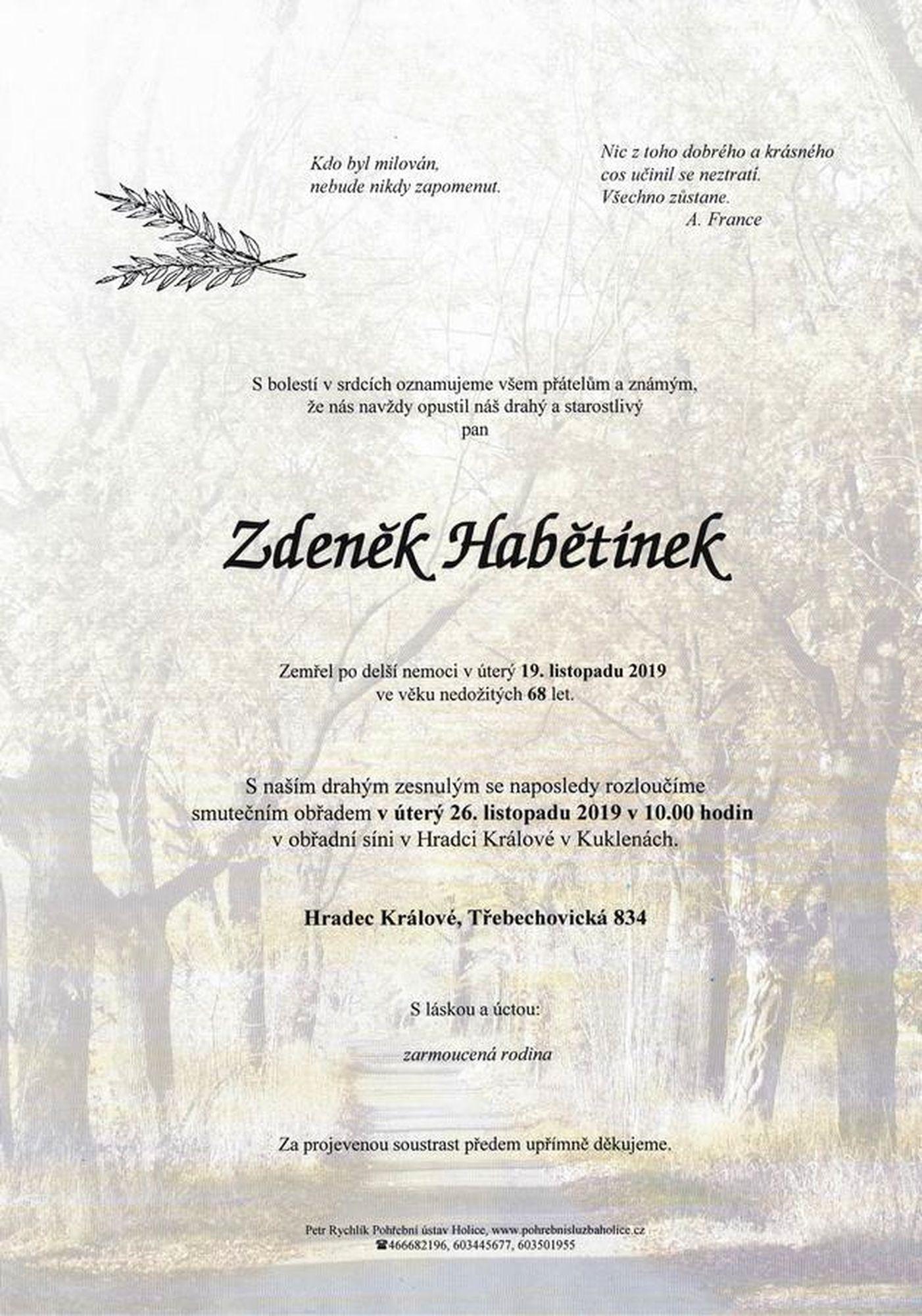 Zdeněk Habětínek