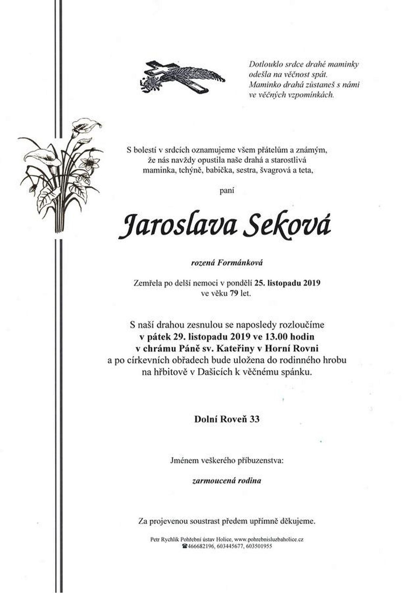 Jaroslava Seková