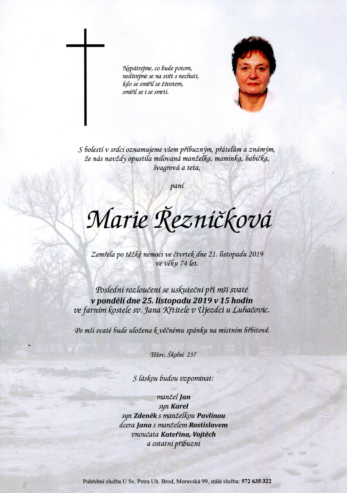 Marie Řezníčková