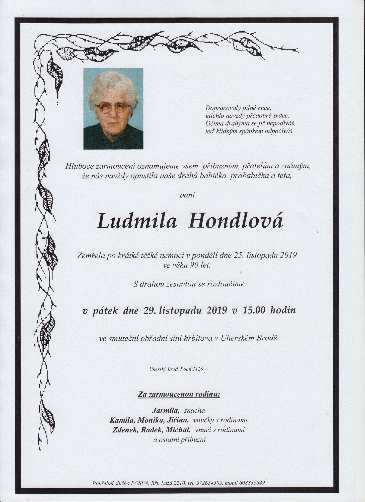 Ludmila Hondlová
