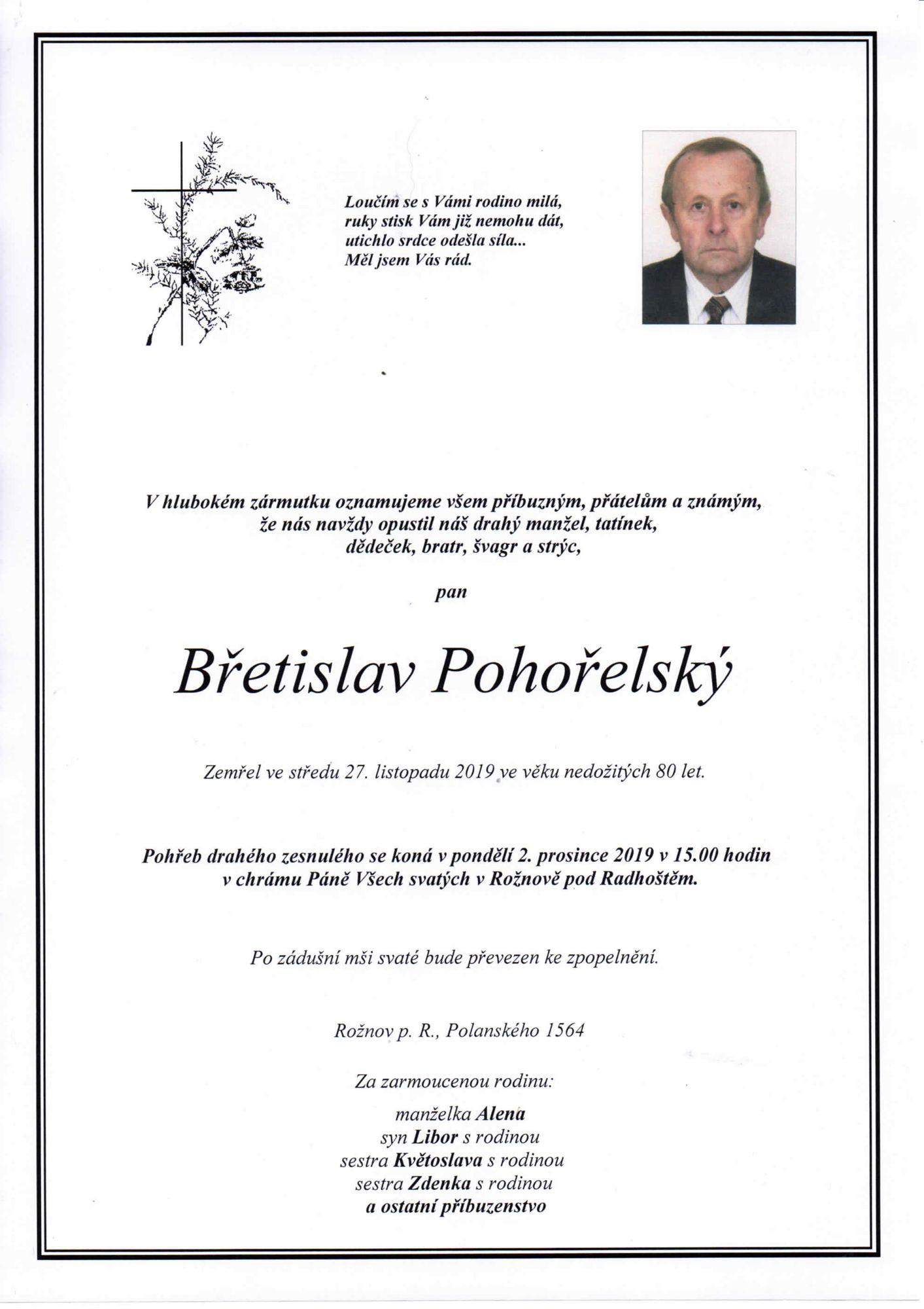 Břetislav Pohořelský