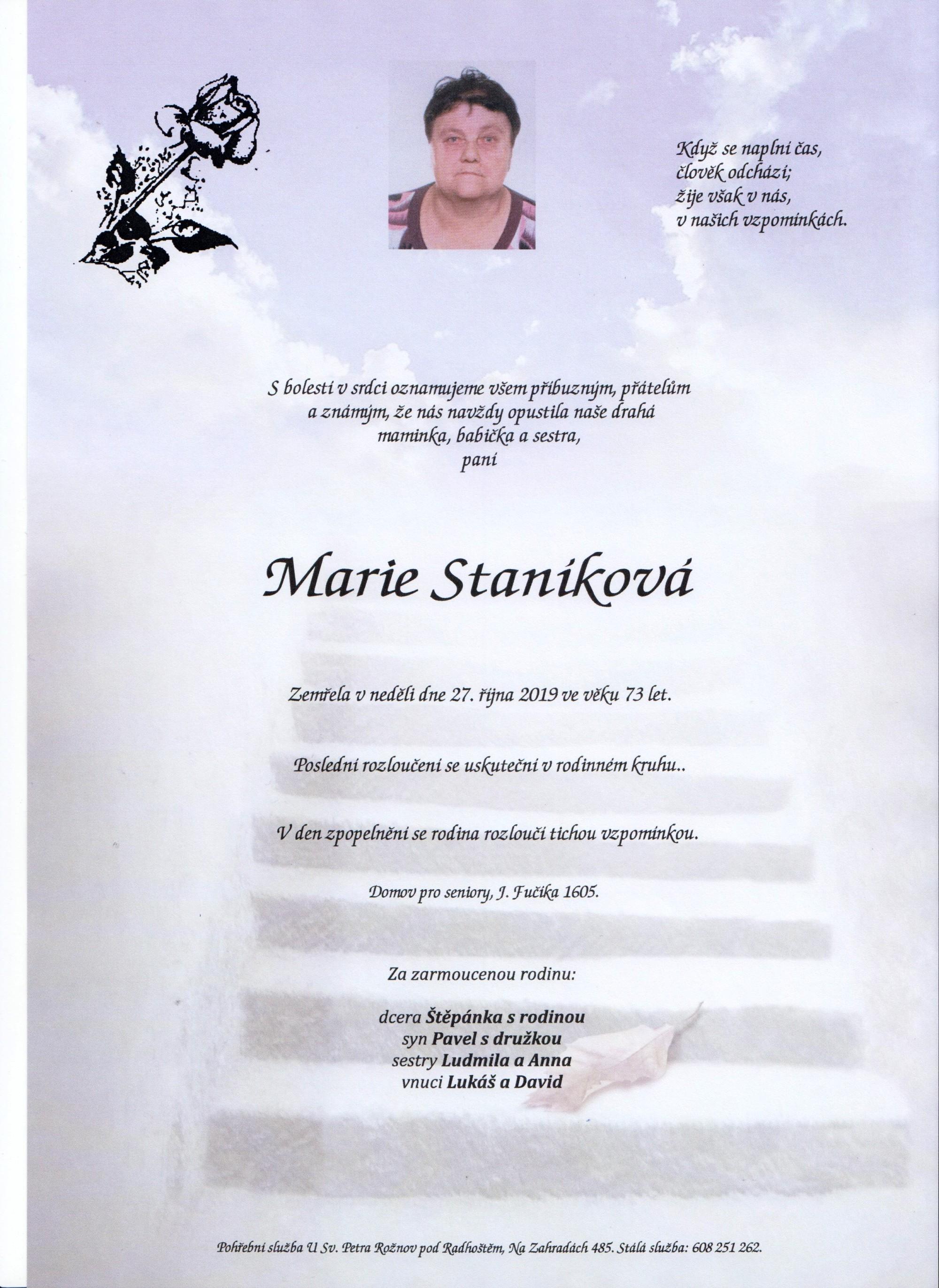 Marie Staníková