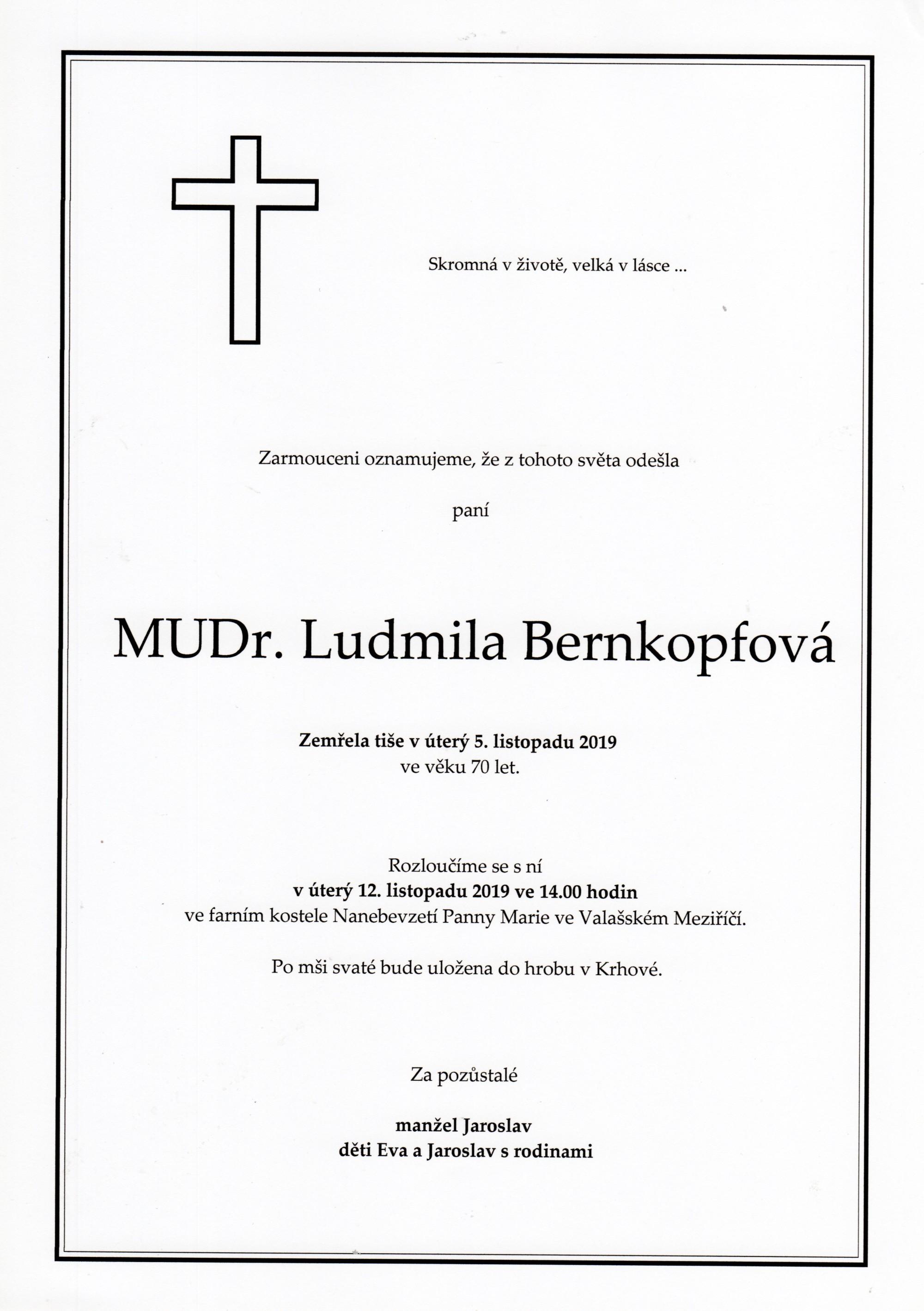 MUDr. Ludmila Bernkopfová